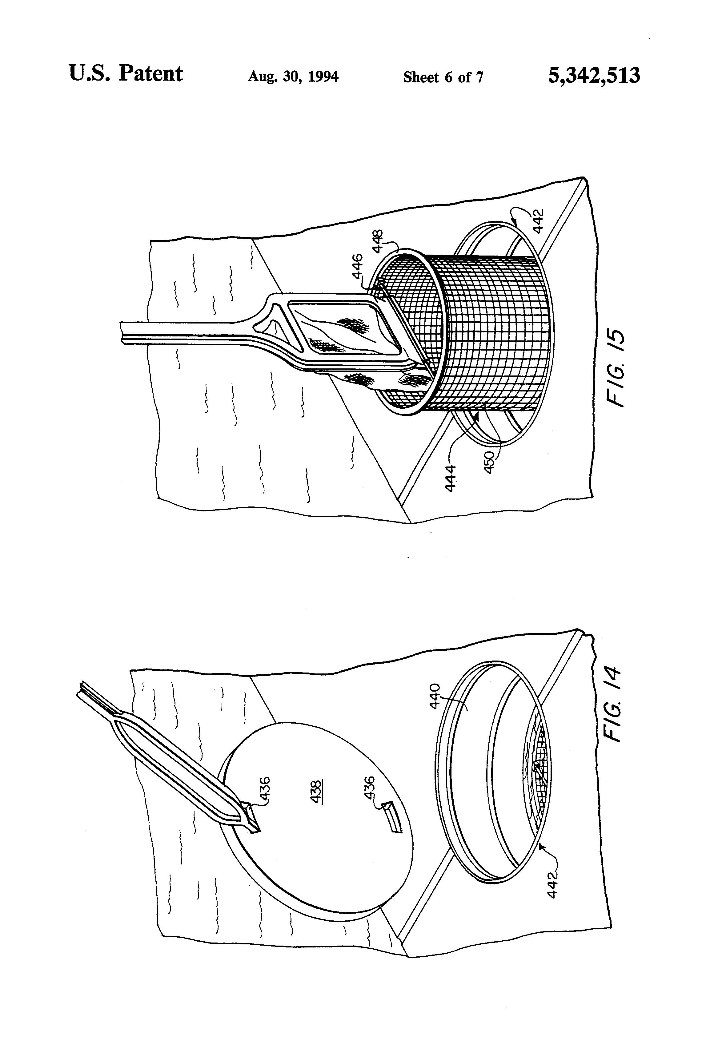 patent us5342513 - multipurpose pool skimmer
