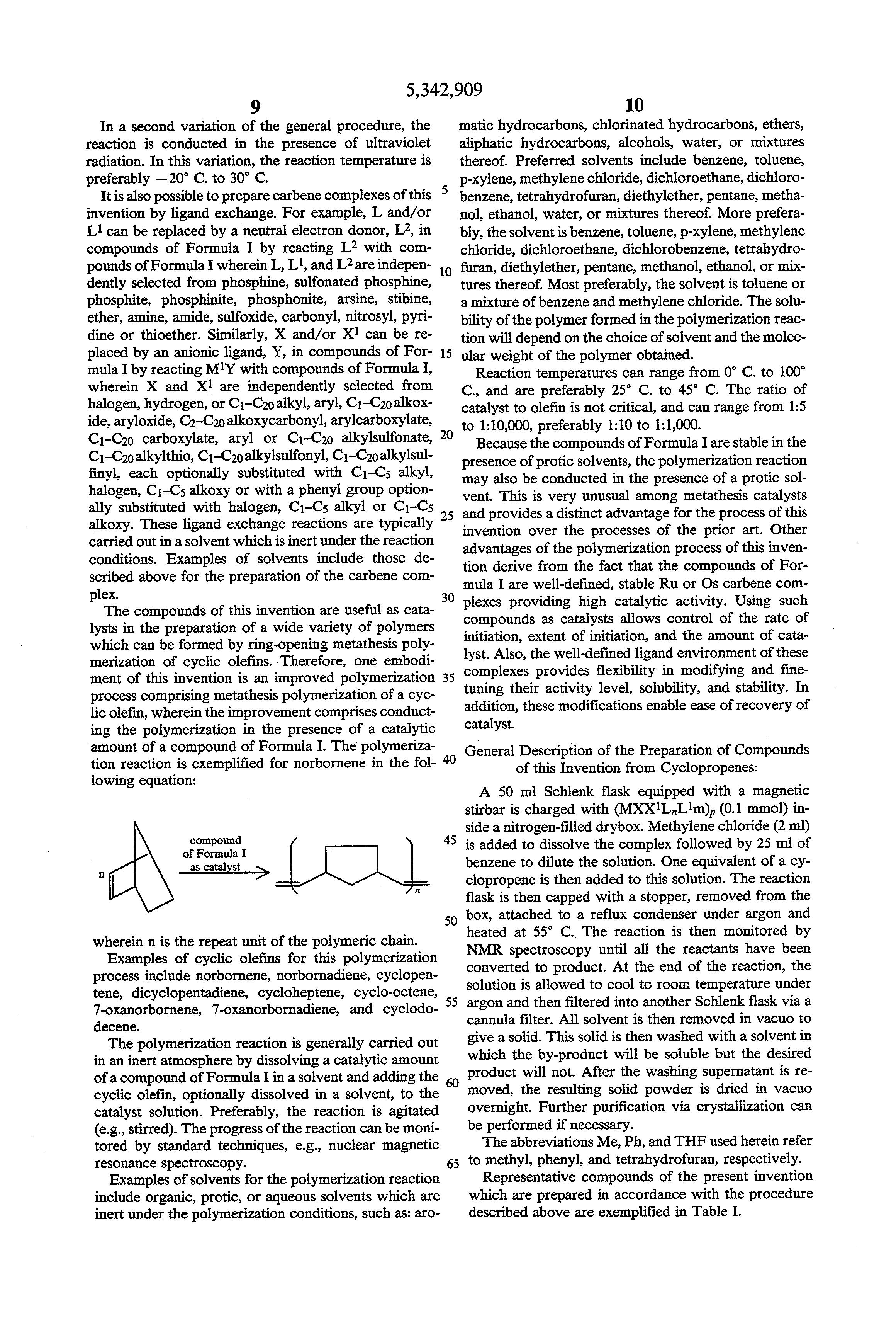 metathesis bitsy olefins