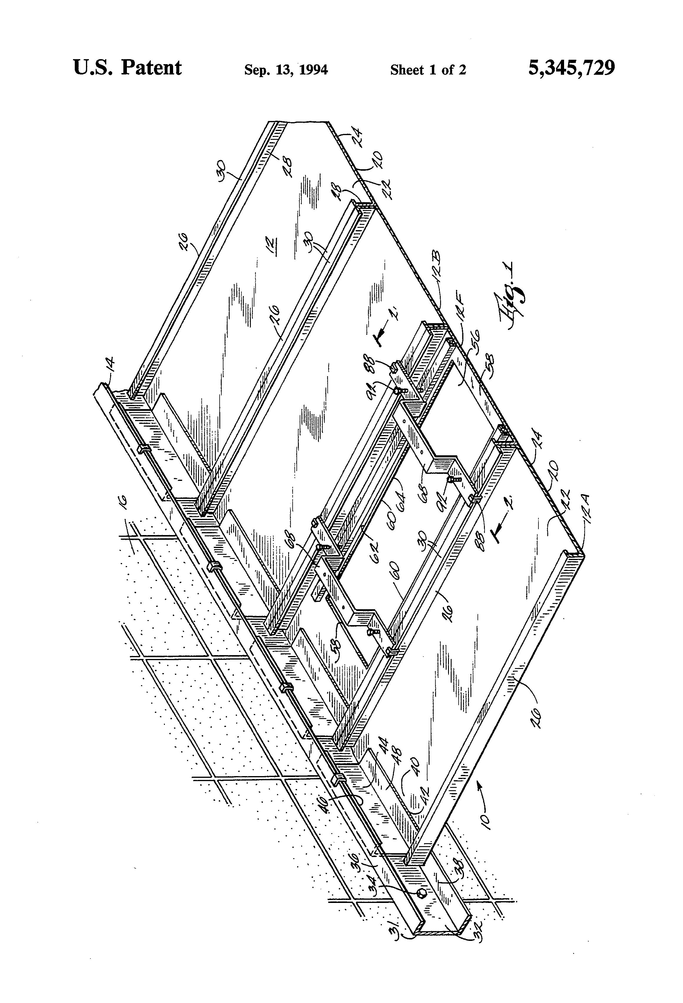 patent us5345729 support for tamper proof securing light. Black Bedroom Furniture Sets. Home Design Ideas
