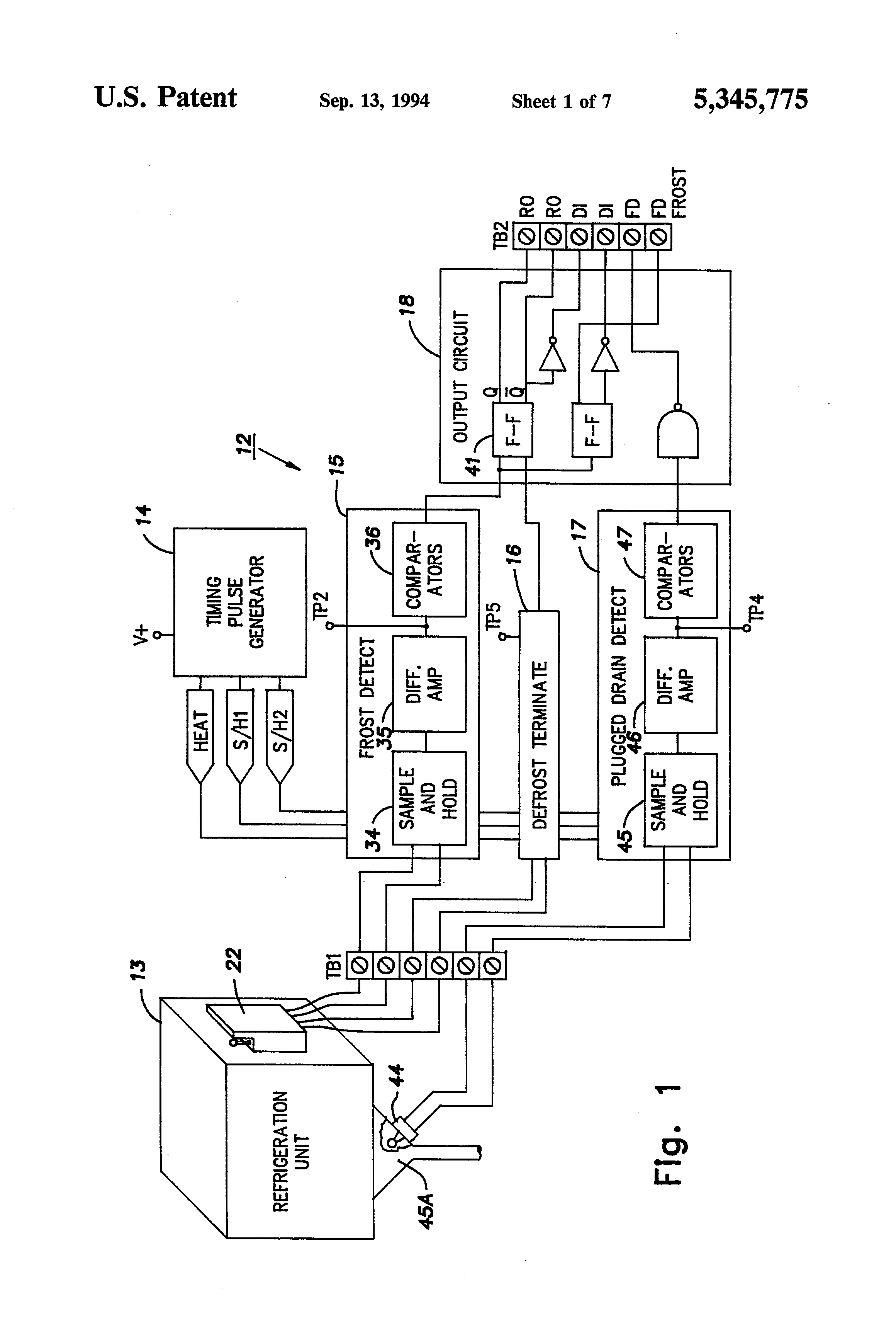 US5345775 1 patent us5345775 refrigeration system detection assembly russell evaporator wiring diagram at creativeand.co