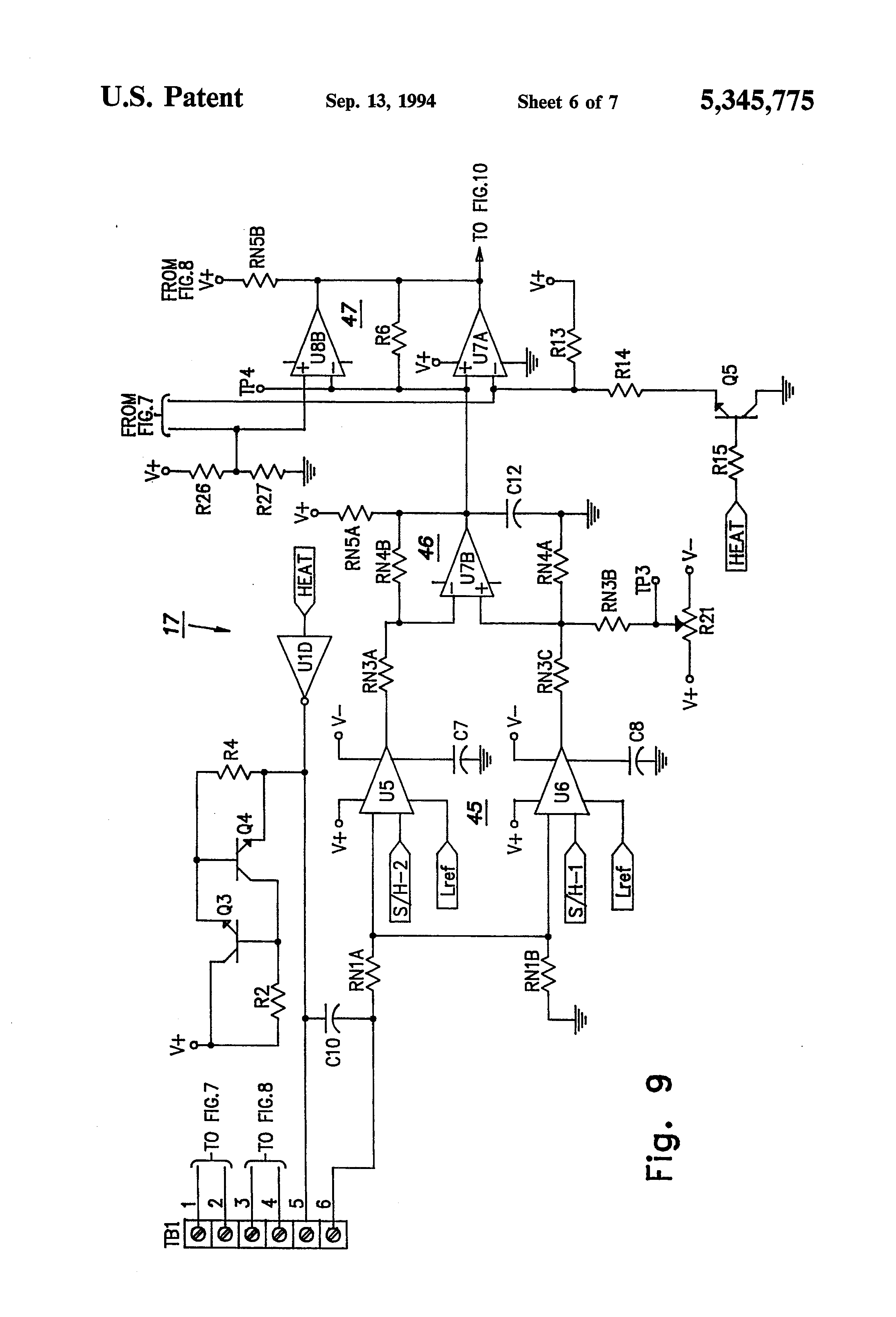 US5345775 6 patent us5345775 refrigeration system detection assembly russell evaporator wiring diagram at creativeand.co