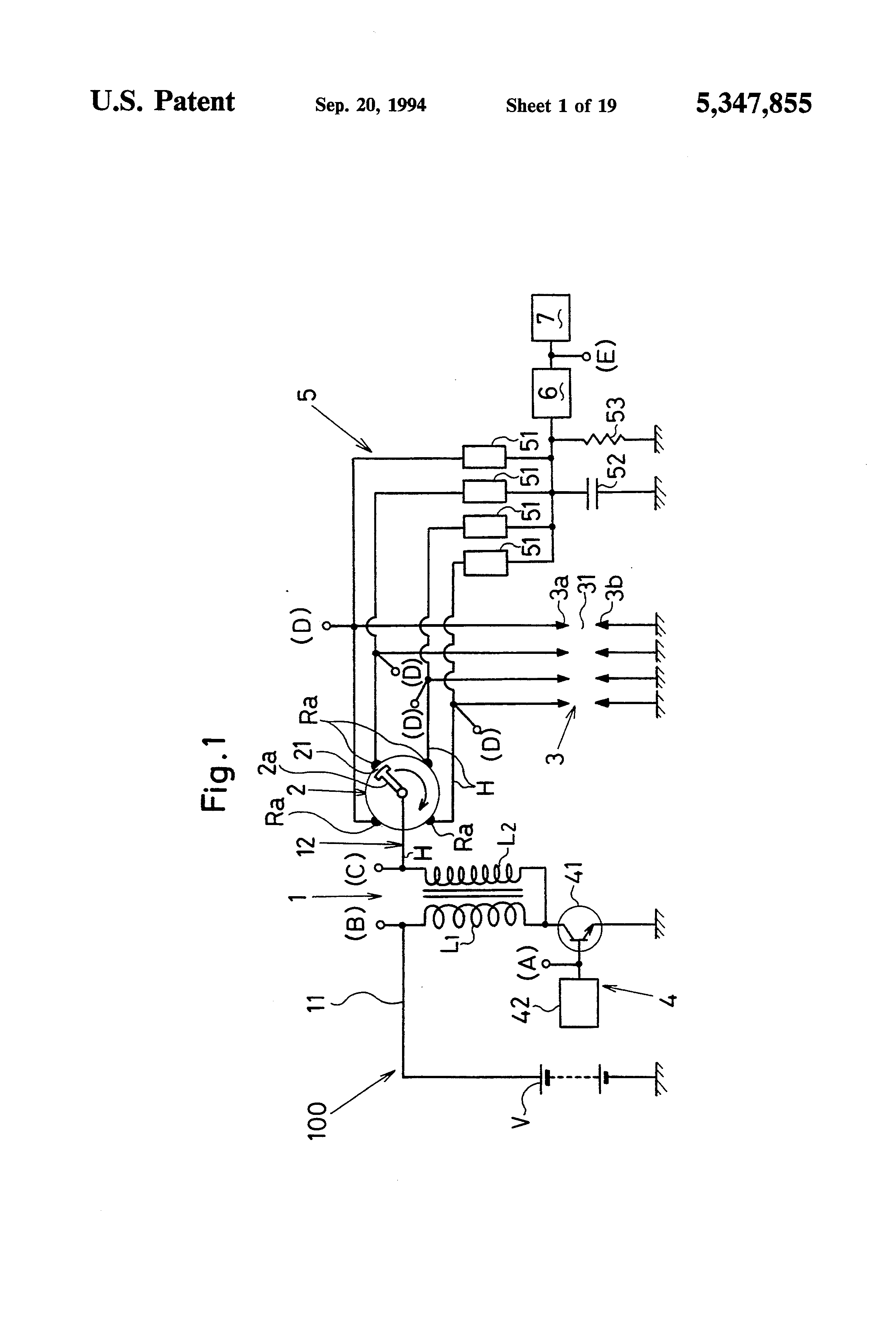 US5347855 1 patent us5347855 misfire detector device for use in an internal pulse adrenaline wiring diagram at panicattacktreatment.co