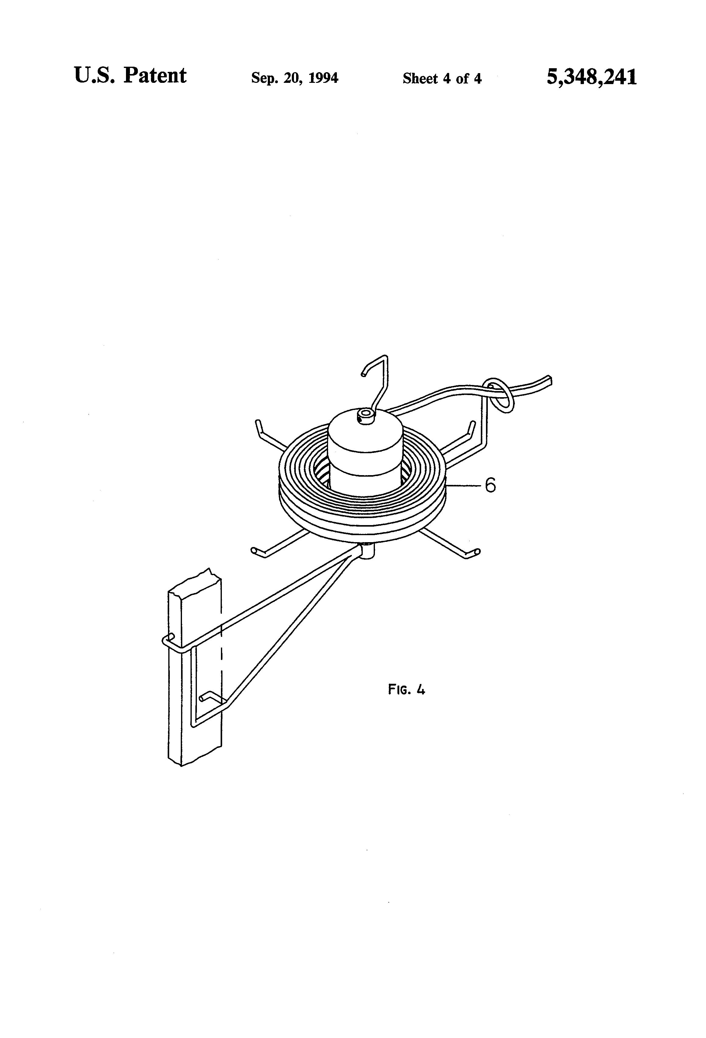 patent us5348241 - romex wire dispenser