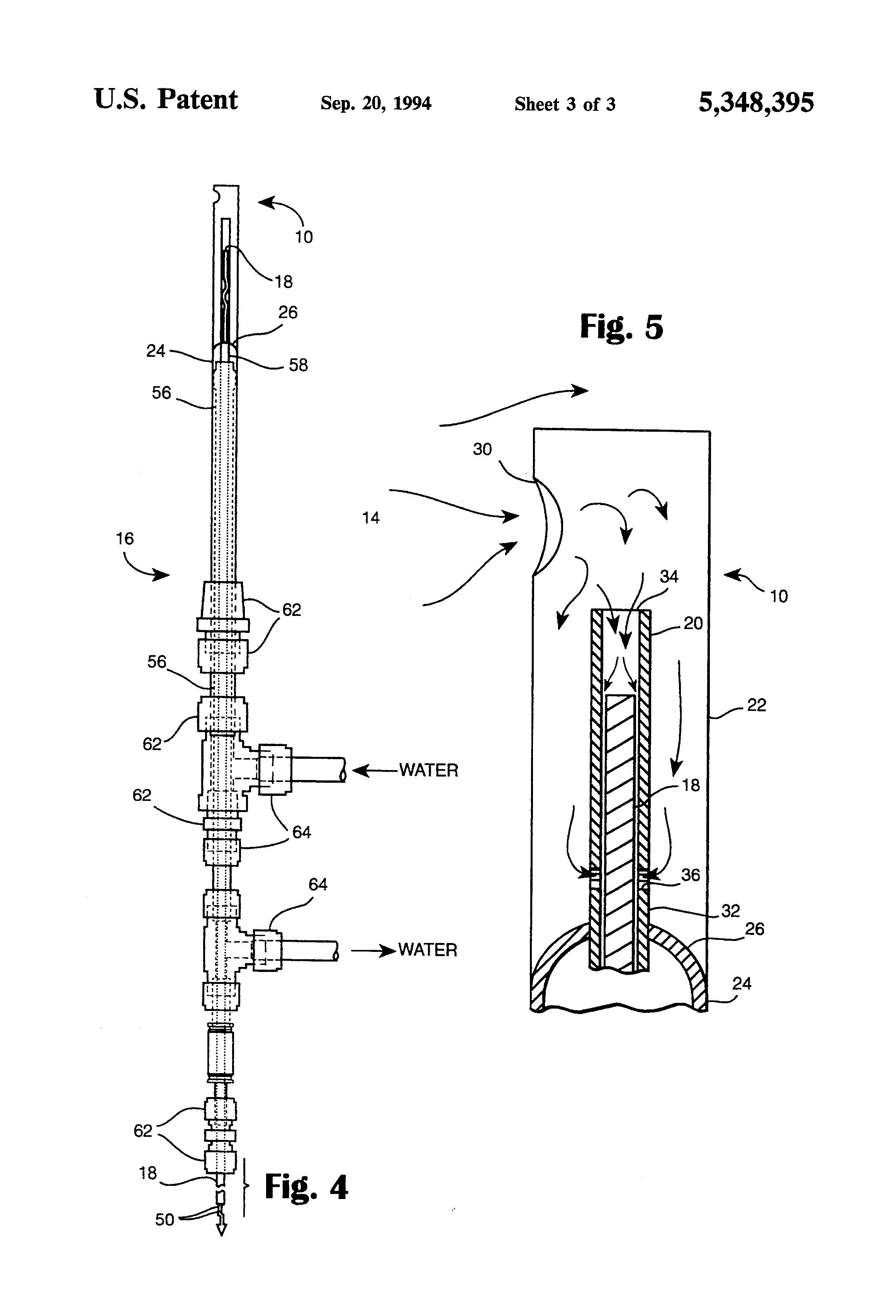 patent us5348395 aspirating pyrometer platinum thermocouple patent drawing