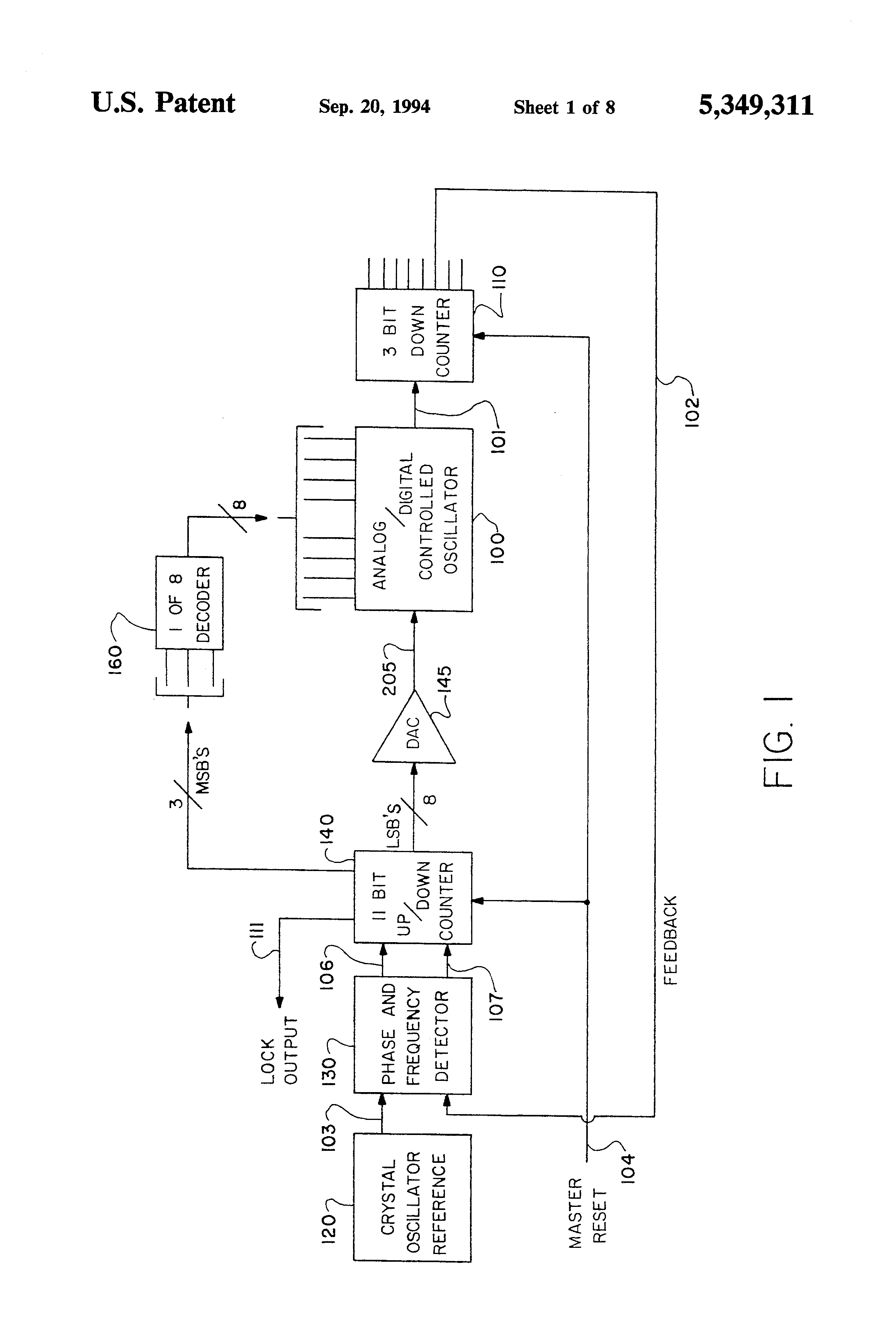 patent us5349311 - current starved inverter voltage controlled oscillator