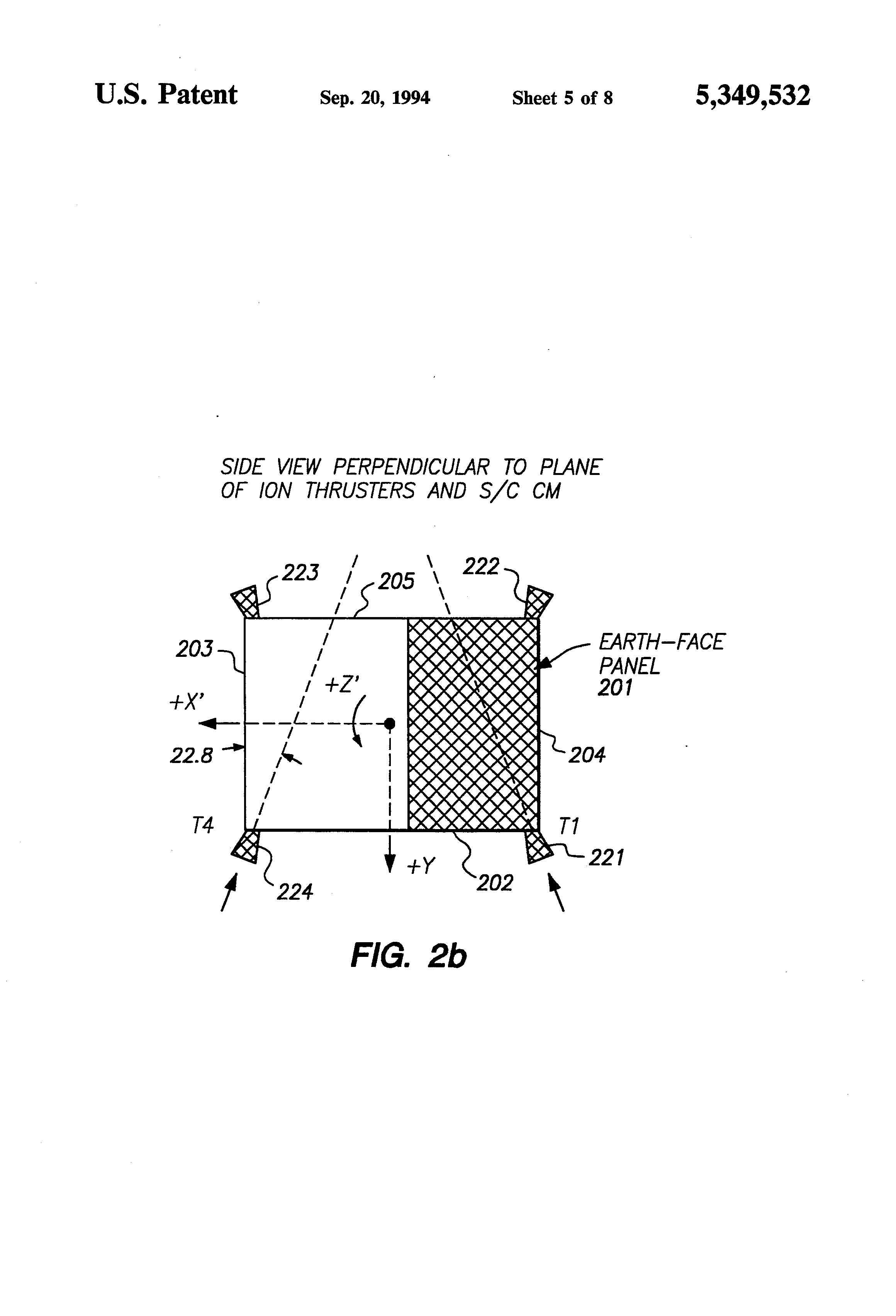 Patent Us5349532 Spacecraft Attitude Control And Momentum Block Diagram Of The Maneuvering Electronics Drawing