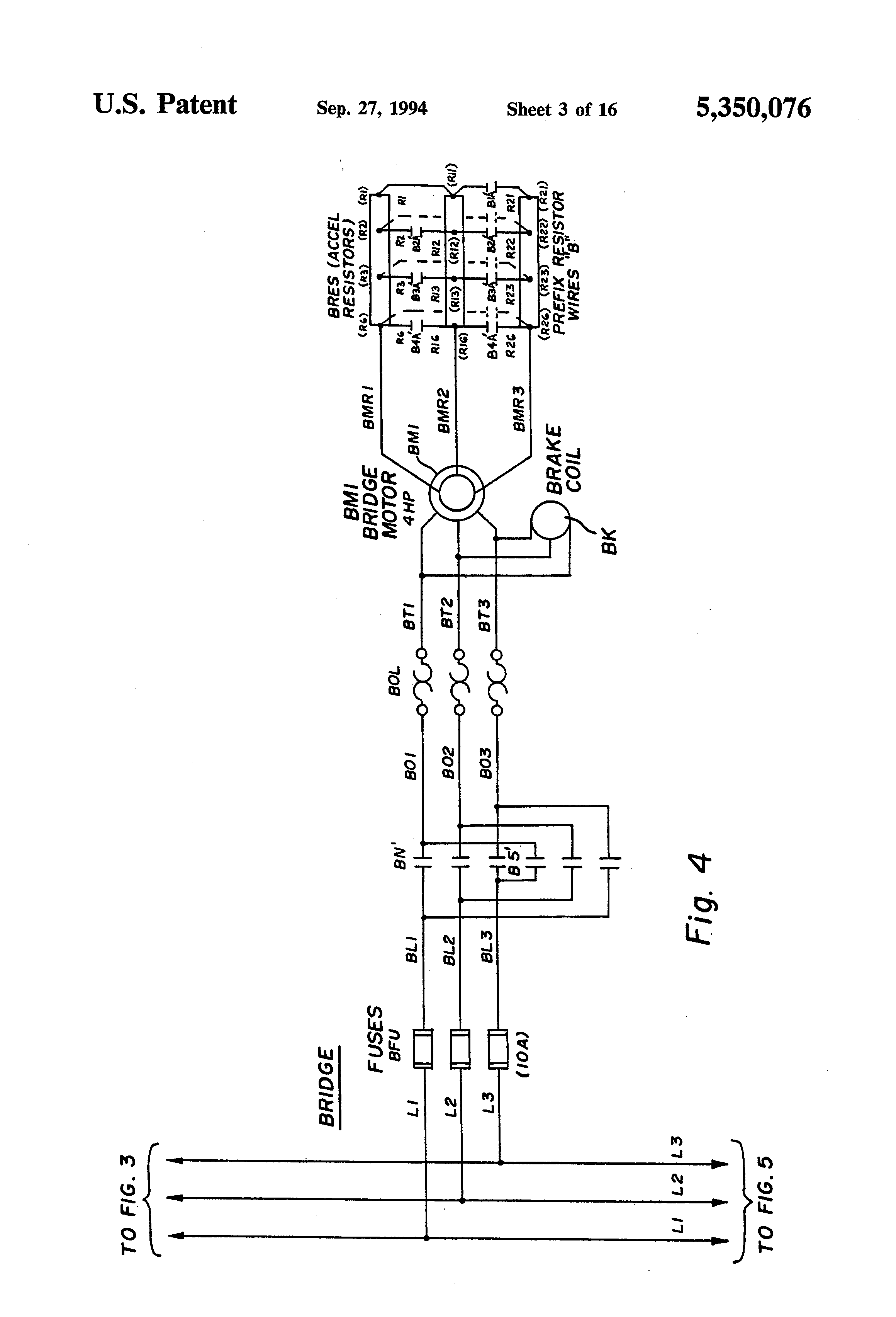 US5350076 3 patent us5350076 bridge crane electric motor control system overhead crane wiring diagram at reclaimingppi.co