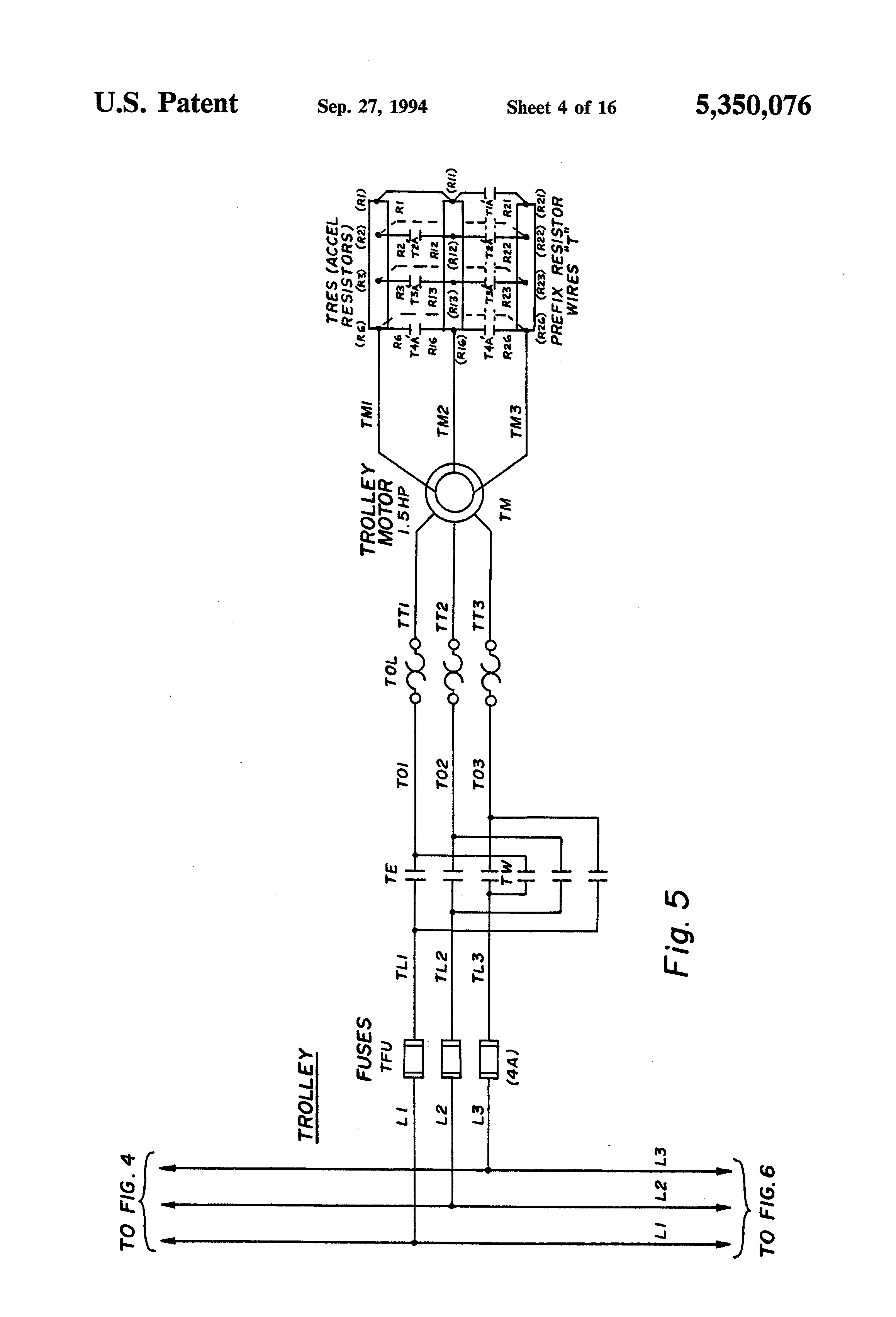 US5350076 4 patent us5350076 bridge crane electric motor control system overhead crane wiring diagram at reclaimingppi.co