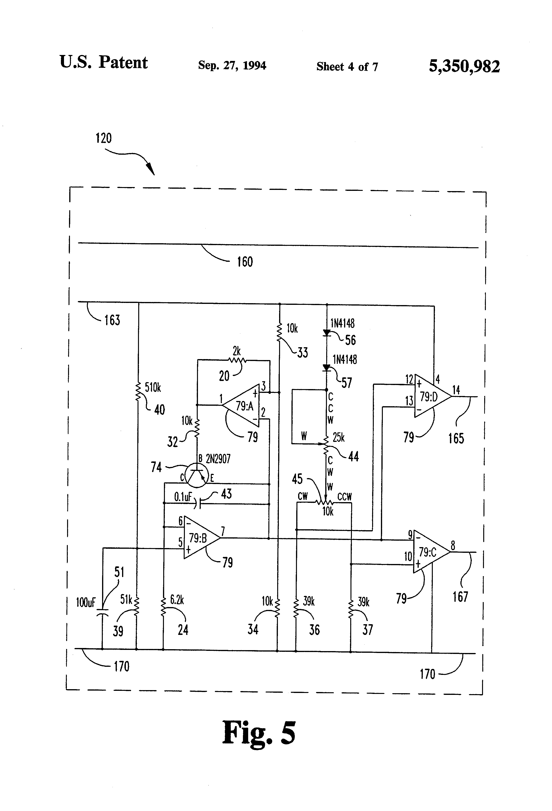 US5350982 4 patent us5350982 motorized golf bag cart circuit and apparatus Potentiometer Motor Wiring Diagram at aneh.co