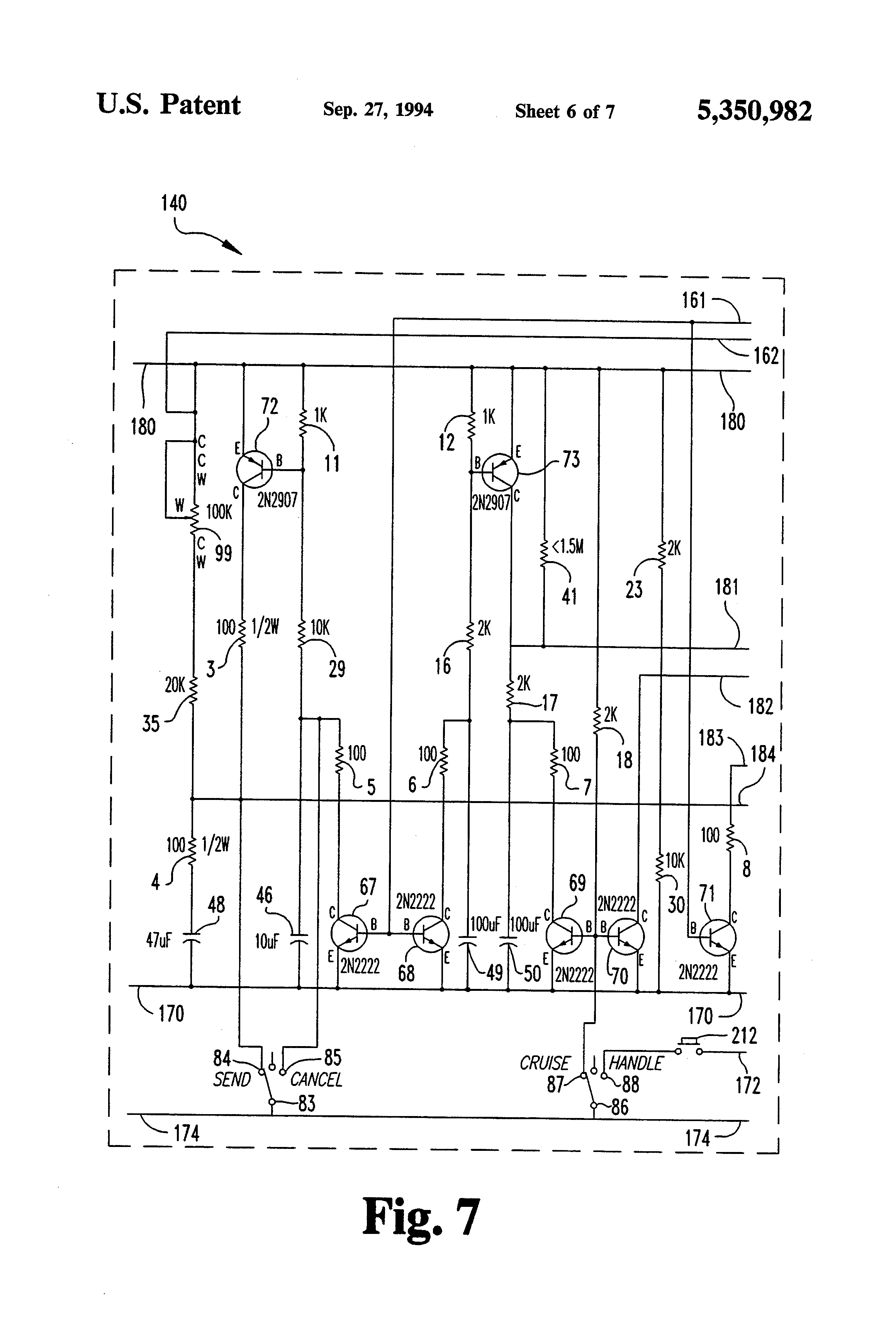 US5350982 6 patent us5350982 motorized golf bag cart circuit and apparatus Potentiometer Motor Wiring Diagram at aneh.co
