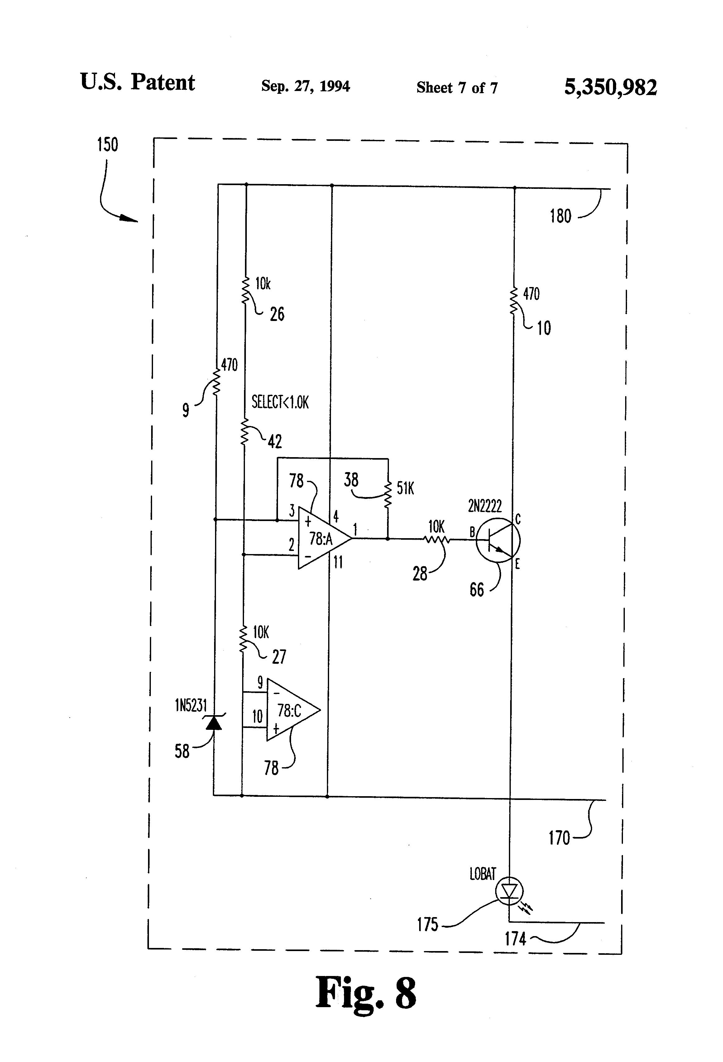 US5350982 7 patent us5350982 motorized golf bag cart circuit and apparatus powakaddy wiring diagram at mifinder.co