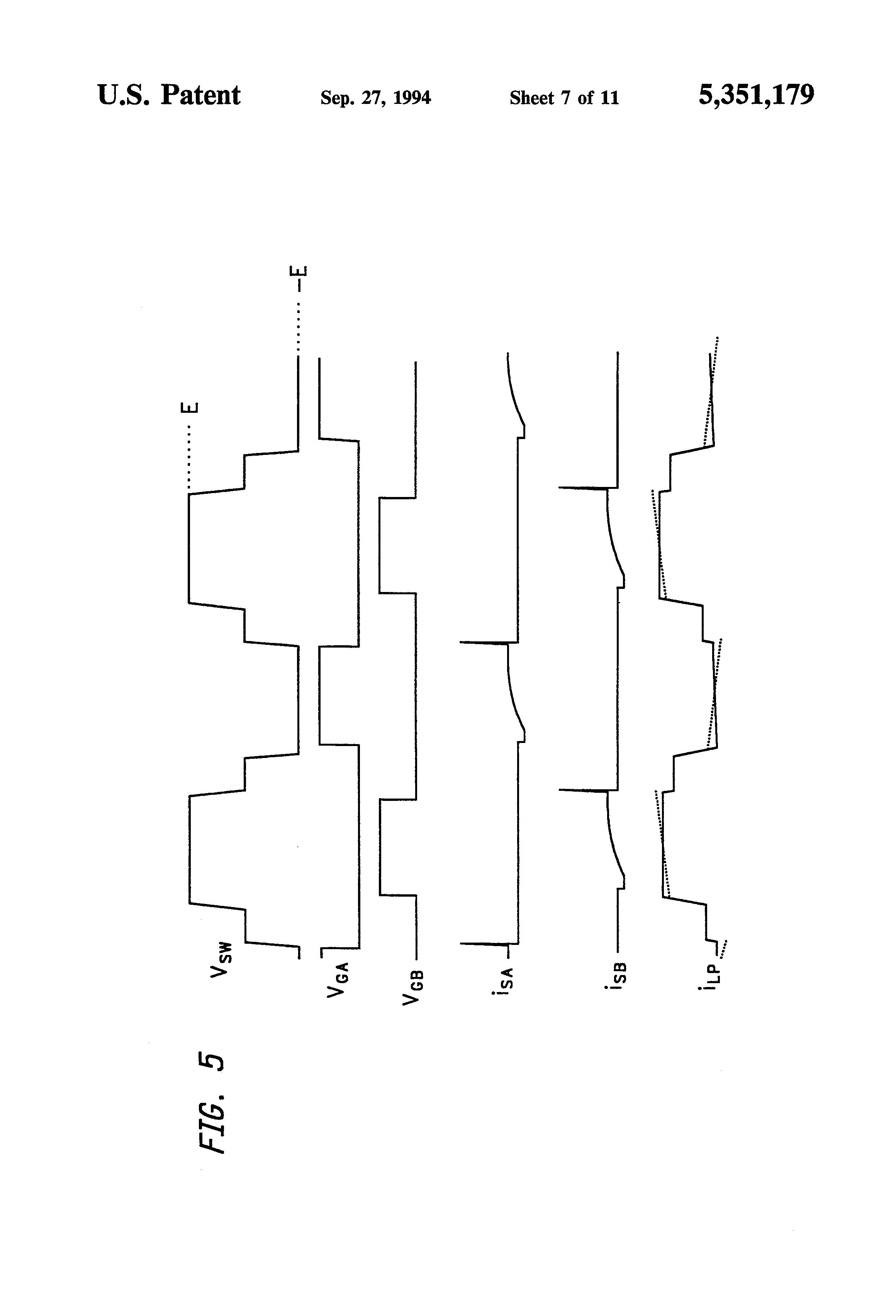 patent us5351179 - lossless active snubber for half-bridge output rectifiers