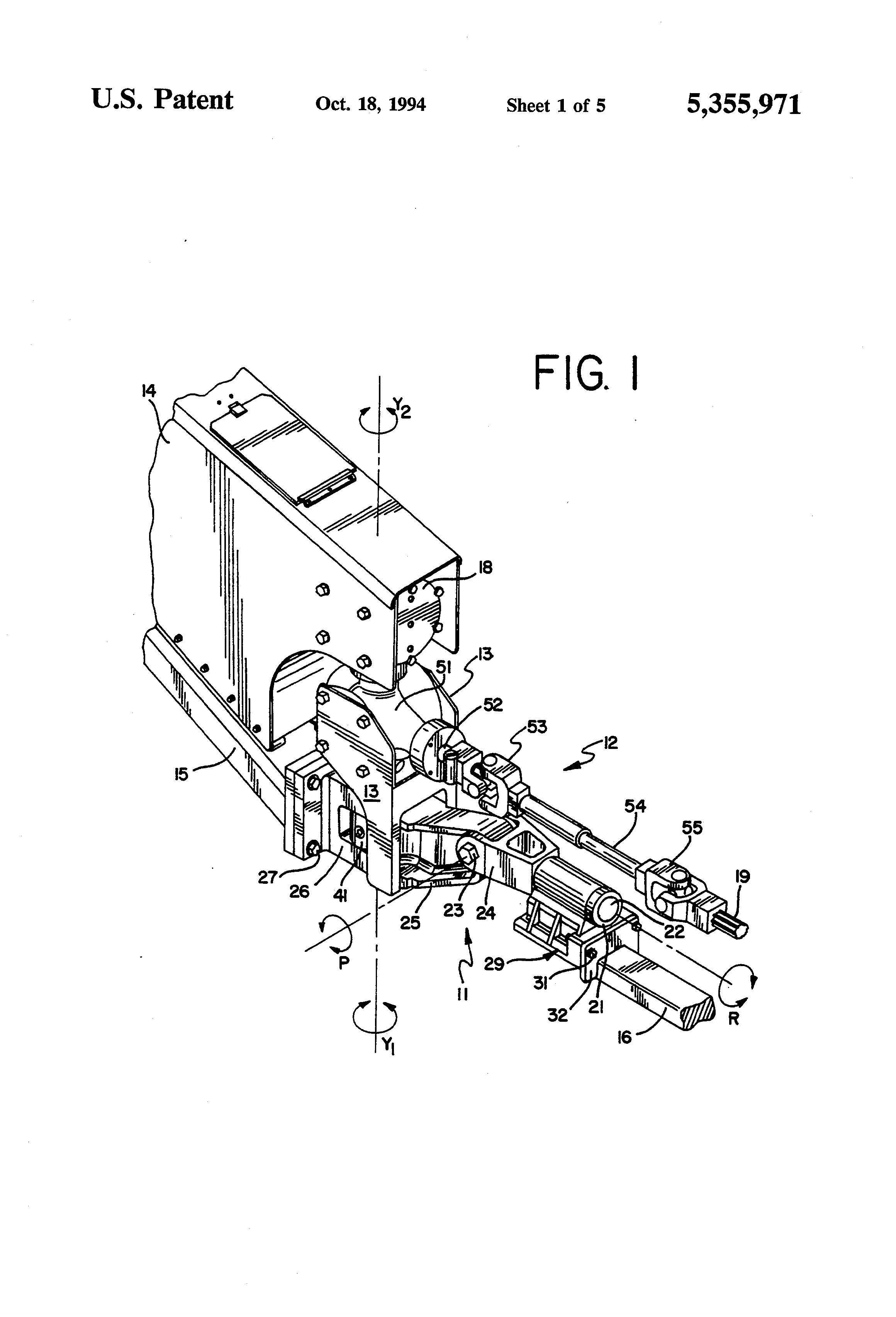 Patent Us5355971 Drivetrain And Load Bearing Swivel Hitch Assembly Exmark Pto Wiring Diagram Drawing