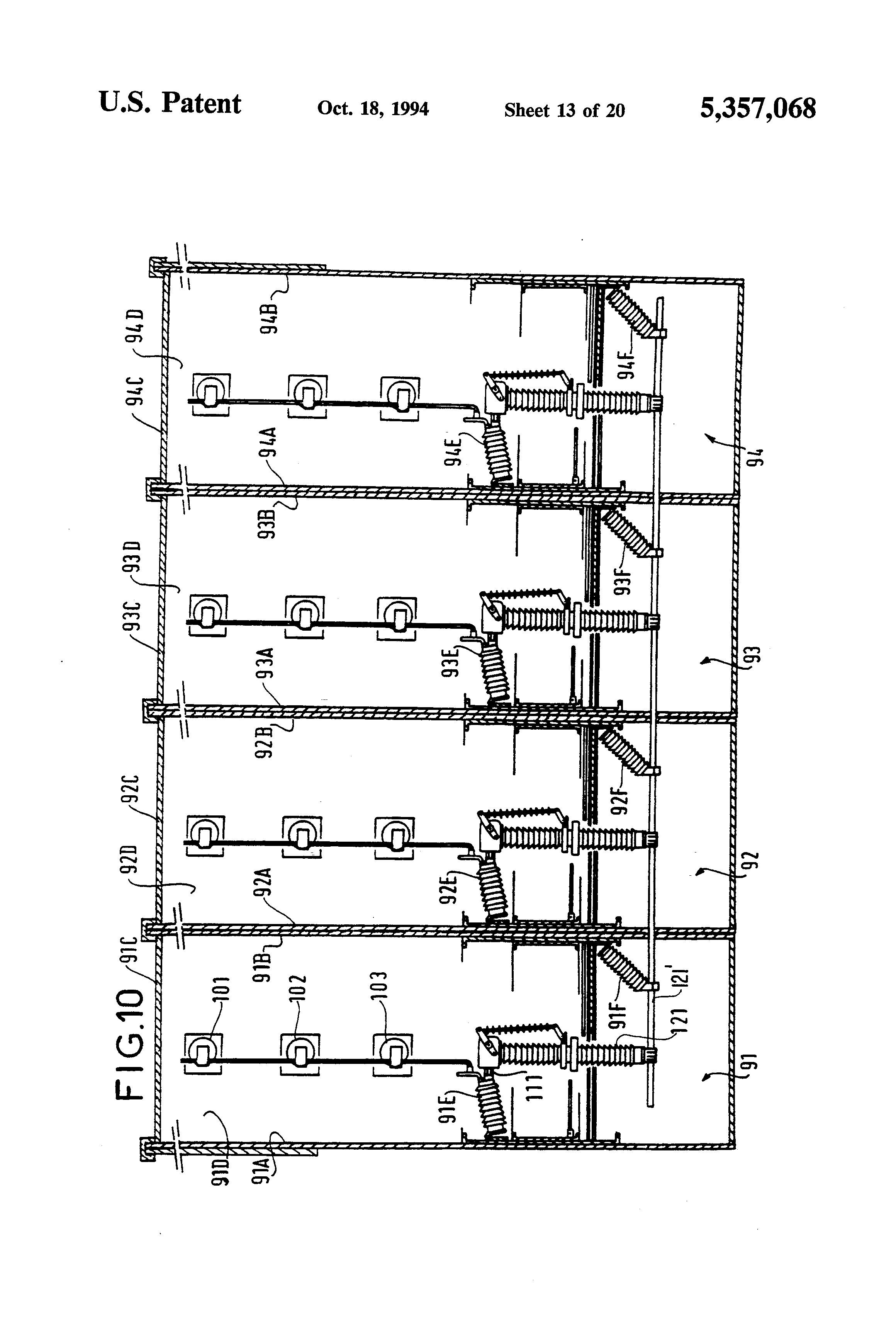 patent us5357068 - sulfur hexafluoride isolating circuit-breaker and use thereof in