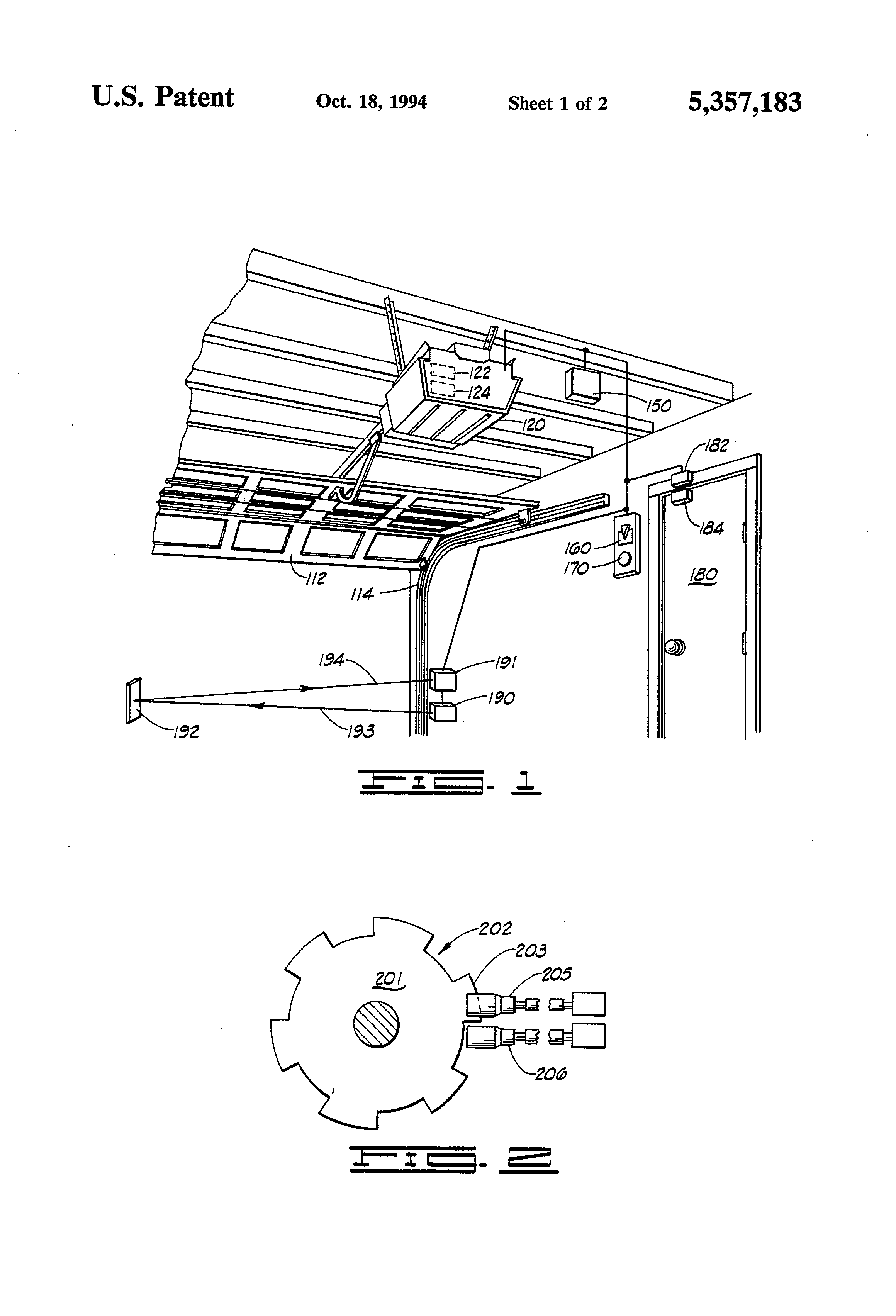 Normal height of garage doors - Patent Drawing