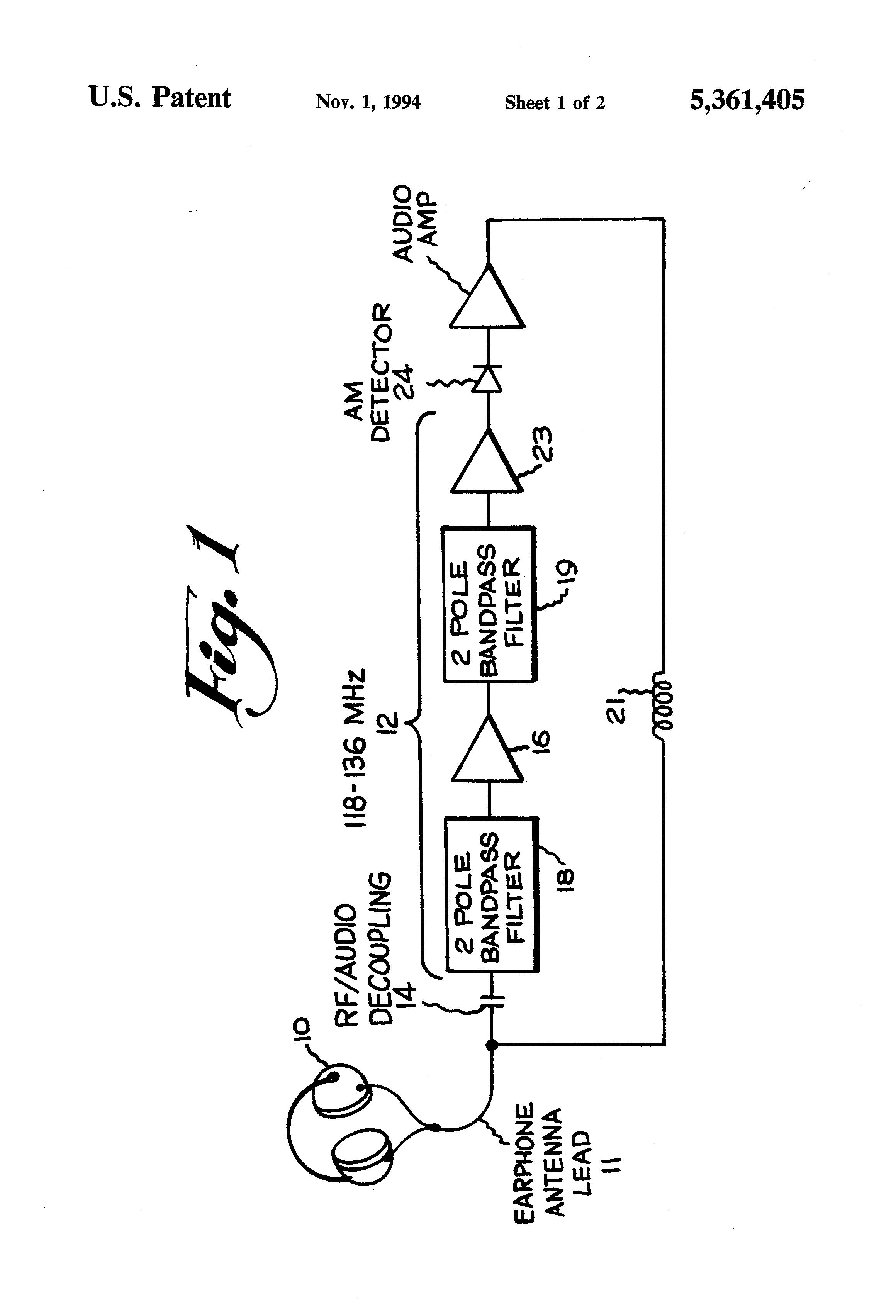 patent us5361405