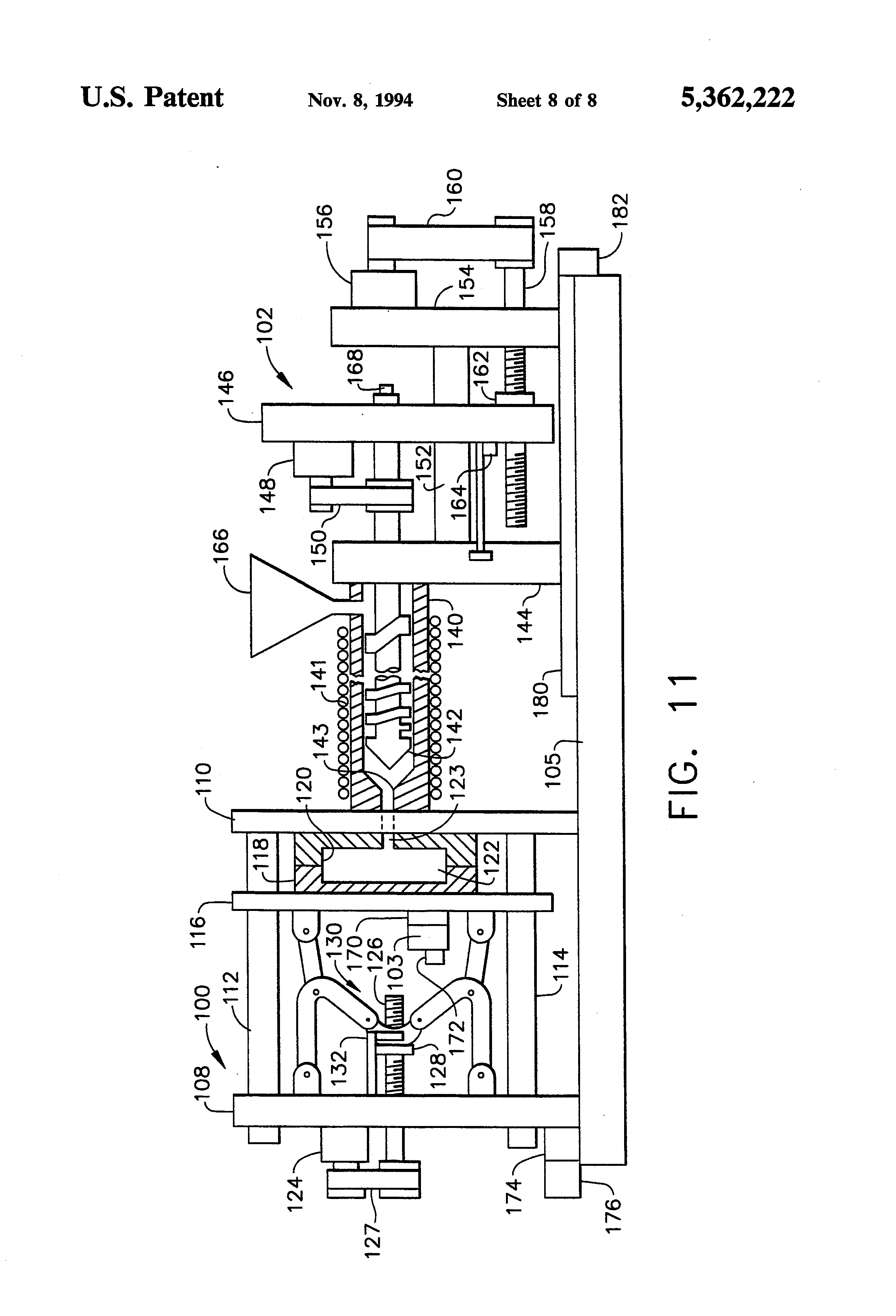 patent us5362222 - injection molding machine having a vector controlled ac drive system