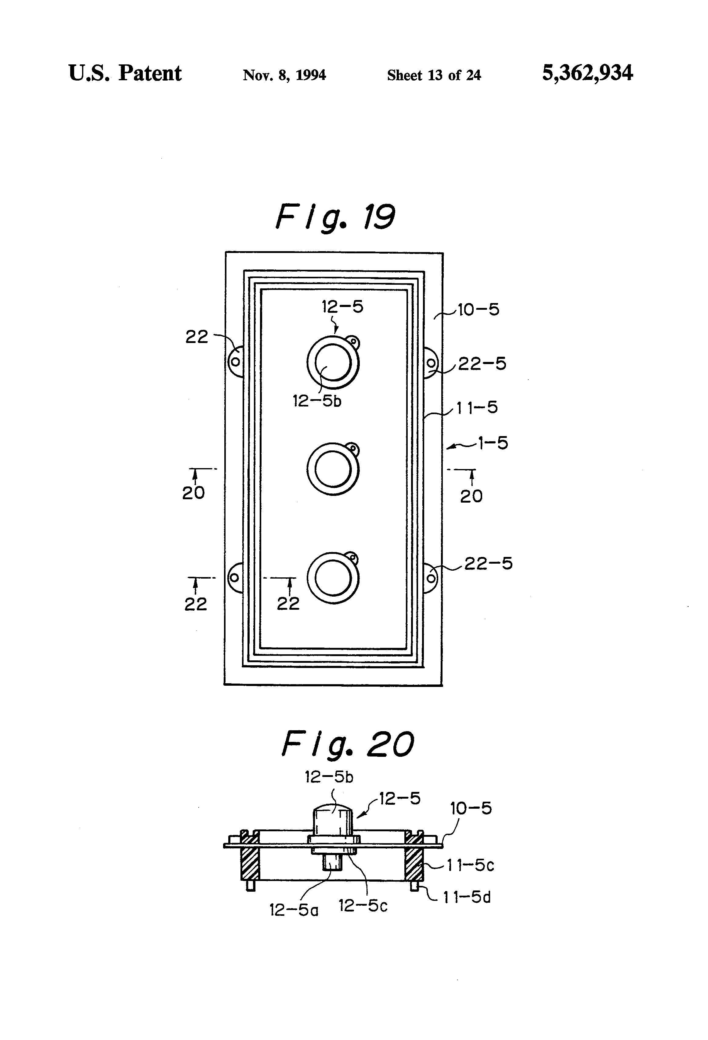 Patent Us5362934 Push Button Switch Keytop And Method Of Liebherr Key Wiring Diagram Drawing