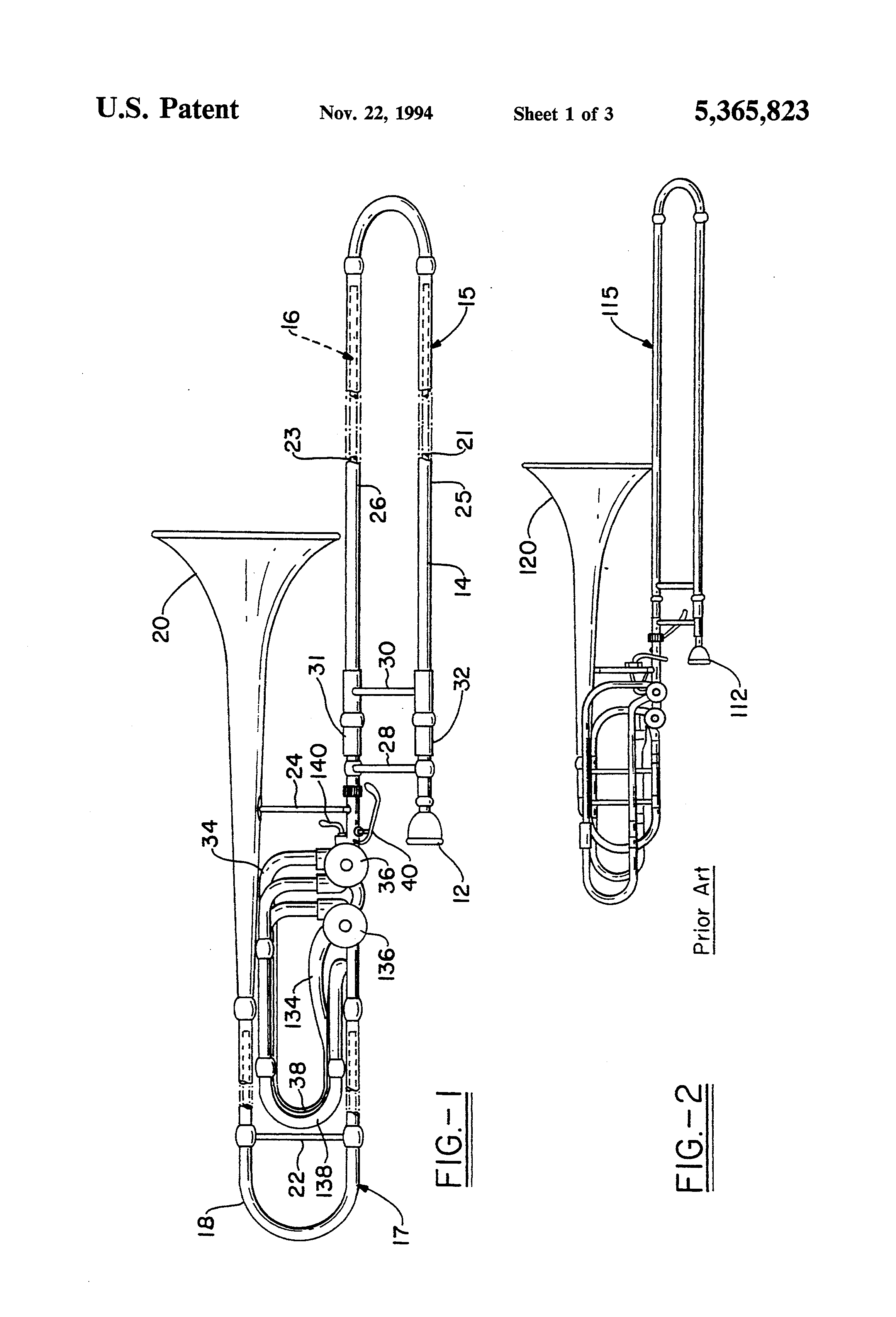 US5365823 1 patent us5365823 in line double attachment slide trombone google