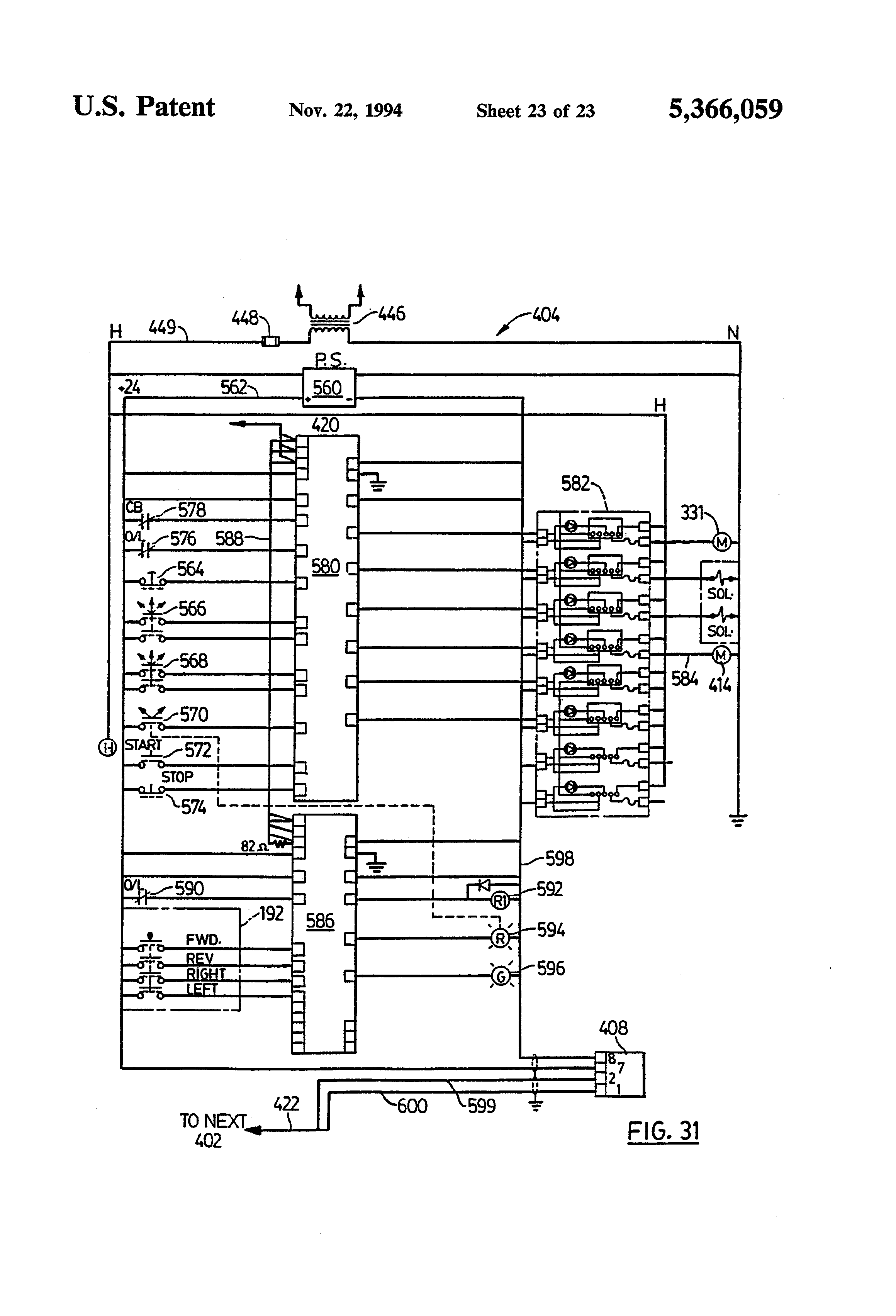 US5366059 23 patent us5366059 steering system for plurality of vehicles case 220 wiring diagram at mifinder.co