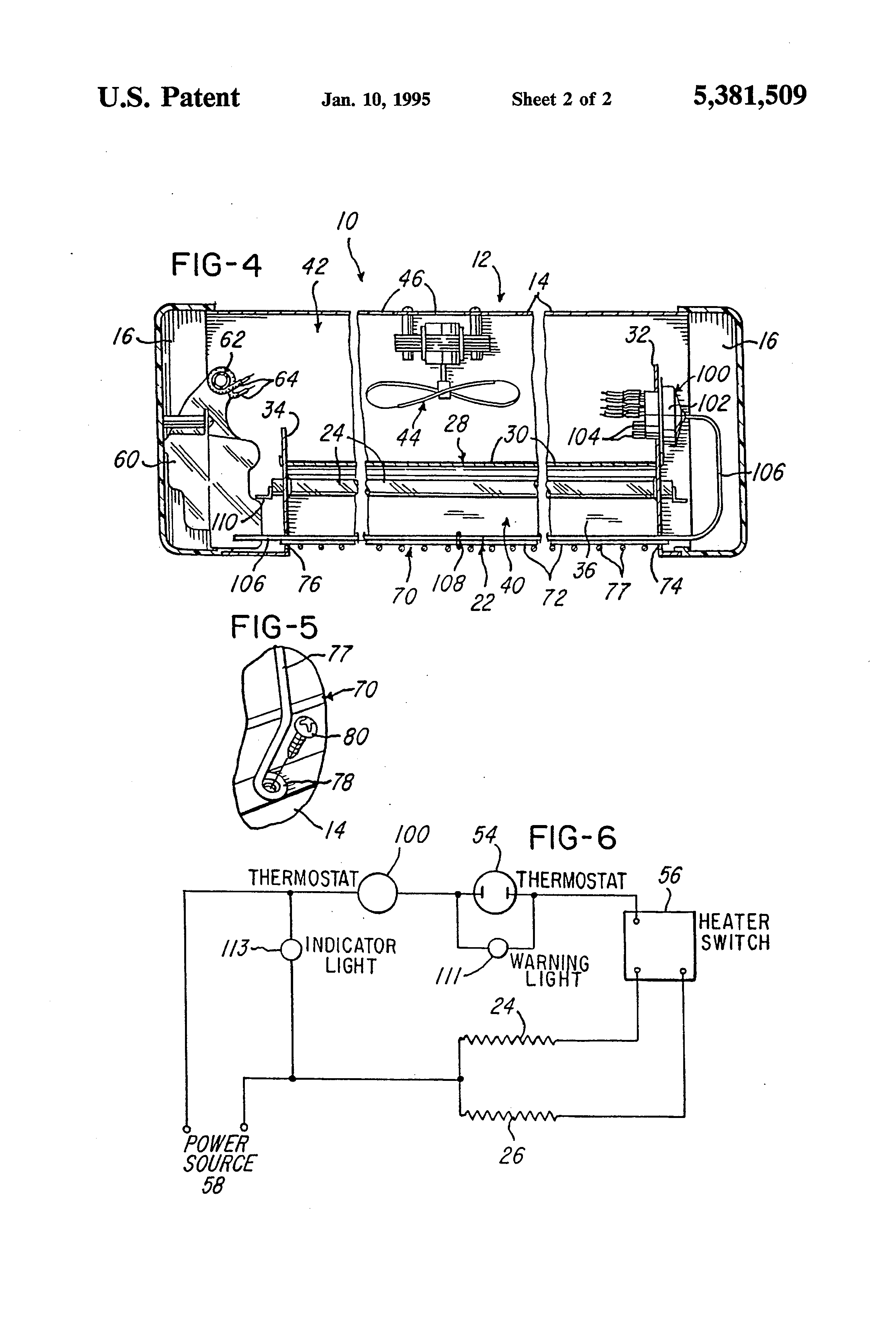Patent Us5381509 - Radiant Electric Space Heater