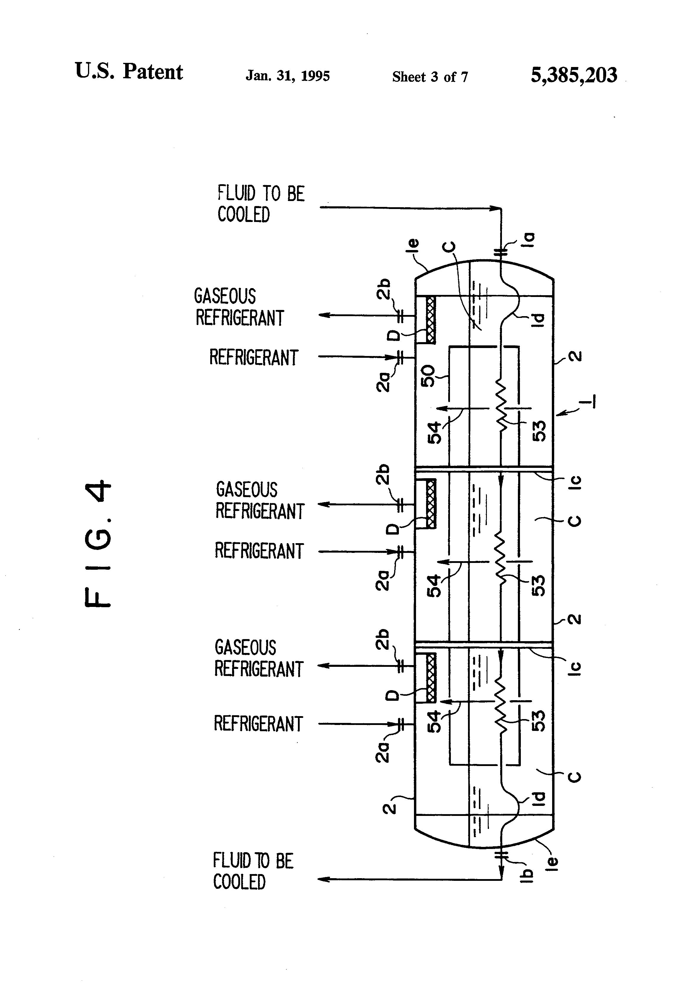 patent us5385203 - plate fin heat exchanger built-in type multi-stage thermosiphon
