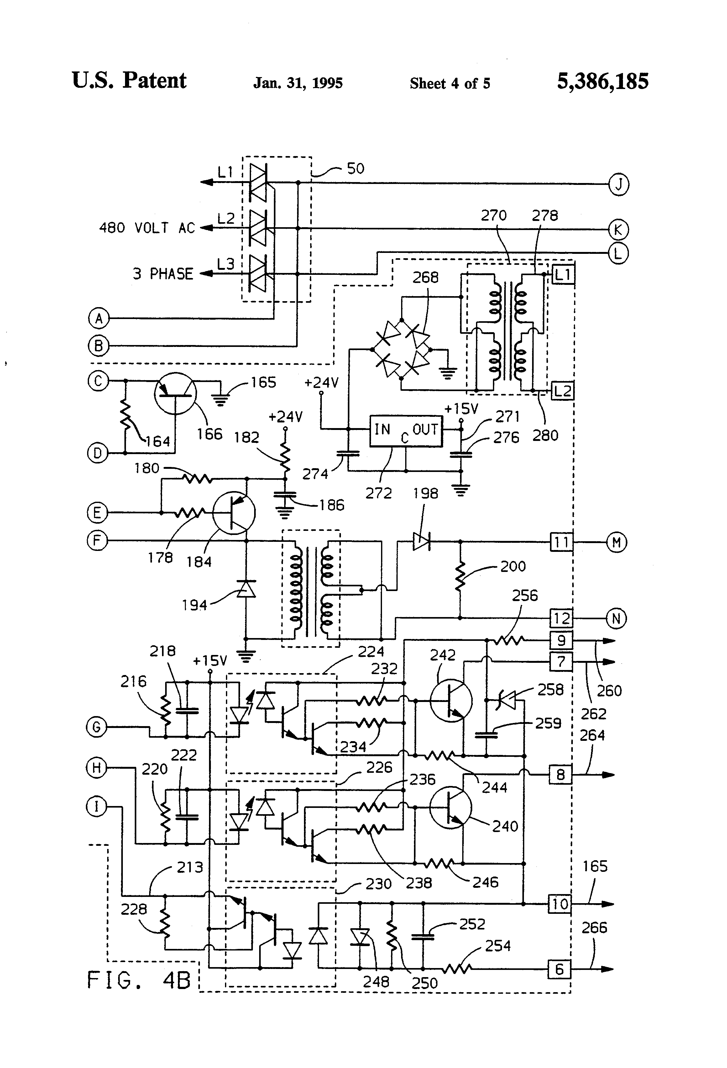 US5386185 4 patent us5386185 high speed ac motor controller google patents Single Phase Motor Wiring Diagrams at gsmx.co