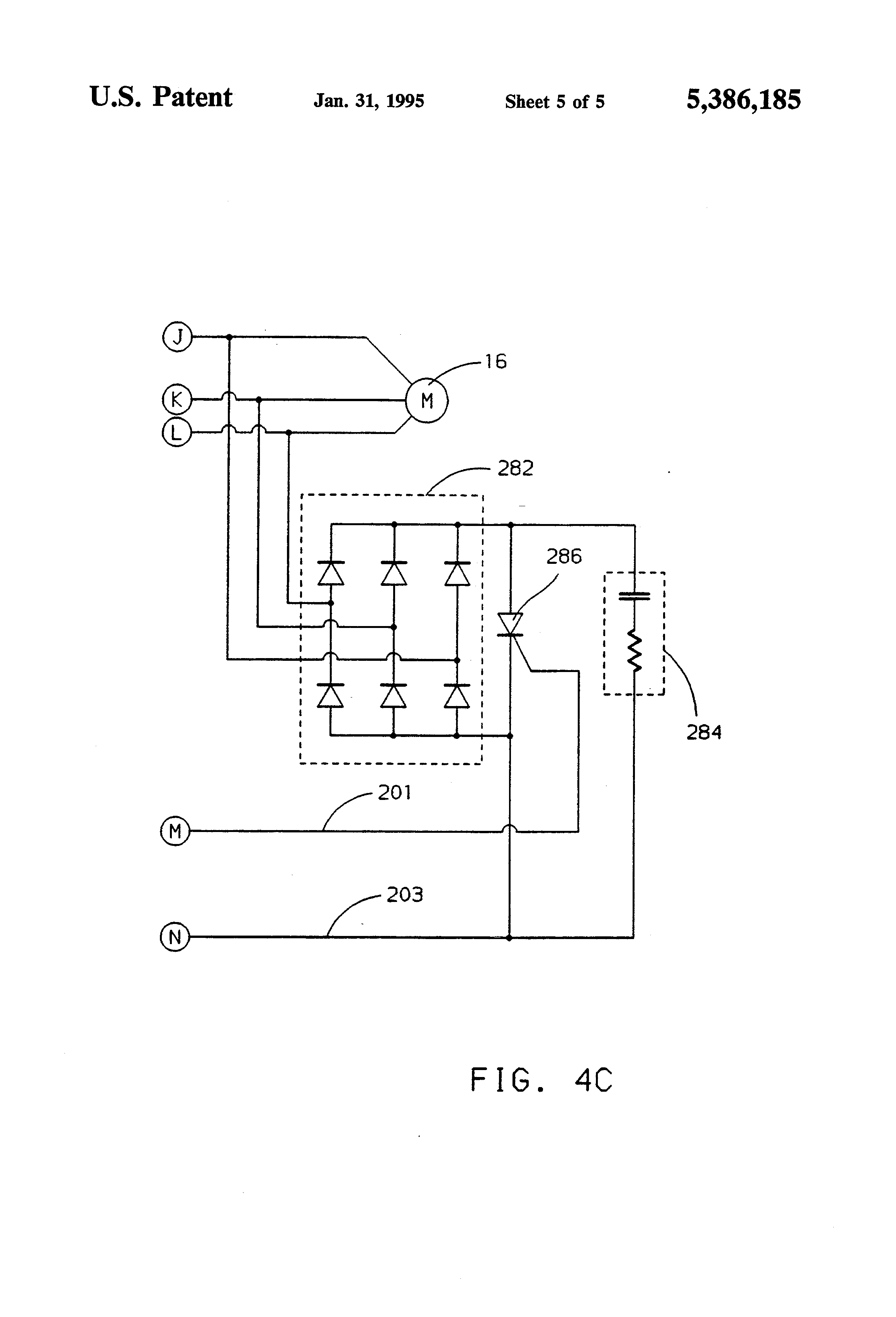 US5386185 5 patent us5386185 high speed ac motor controller google patents Single Phase Motor Wiring Diagrams at gsmx.co