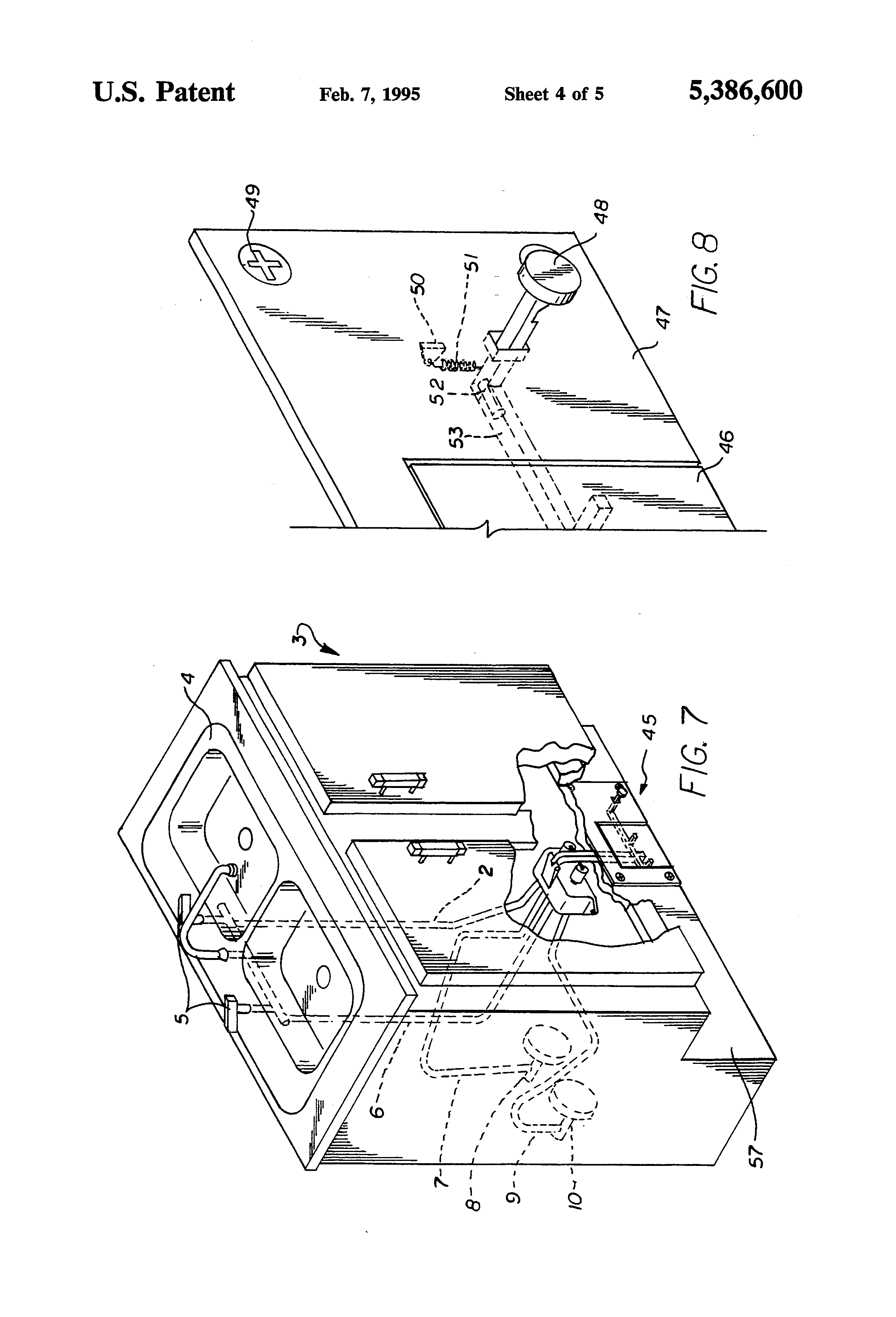 patent us5386600 latching foot pedal actuated tap water flow patent drawing