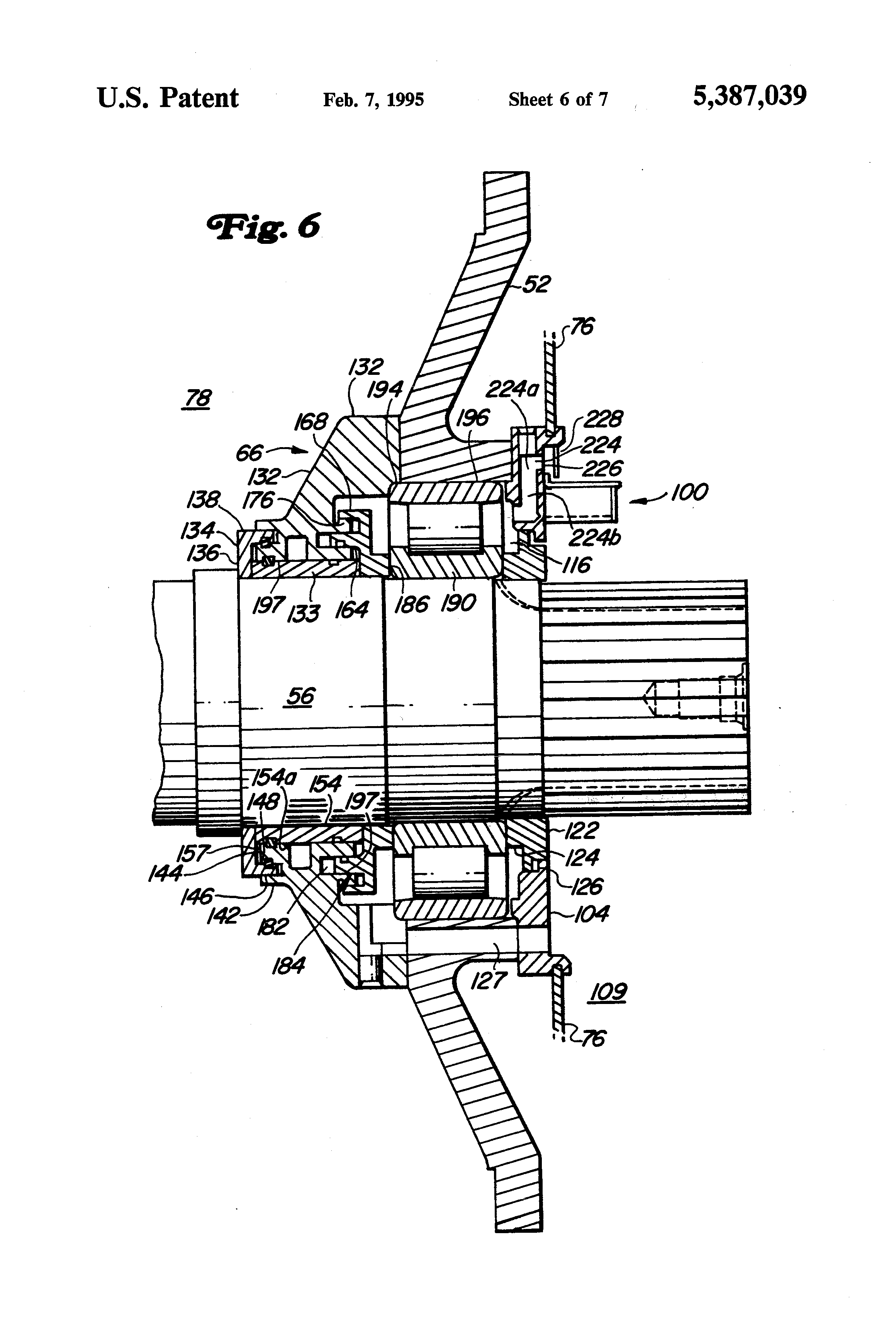 patent us5387039 - ac traction motor with drive end bearing assembly for locomotive