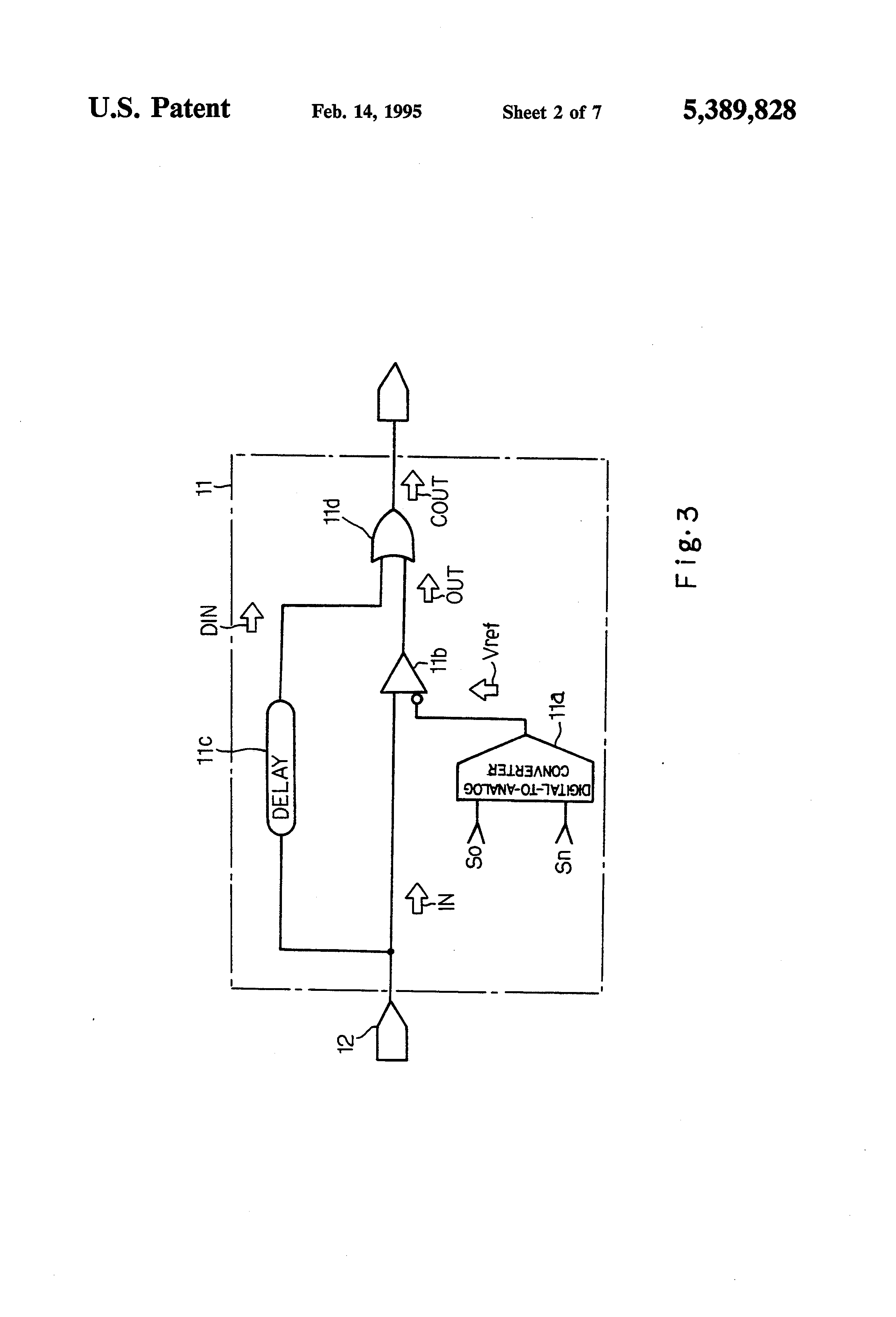 Patent Us5389828 Programmable Delay Generator For Independently Levels High Speed Pulse Drawing