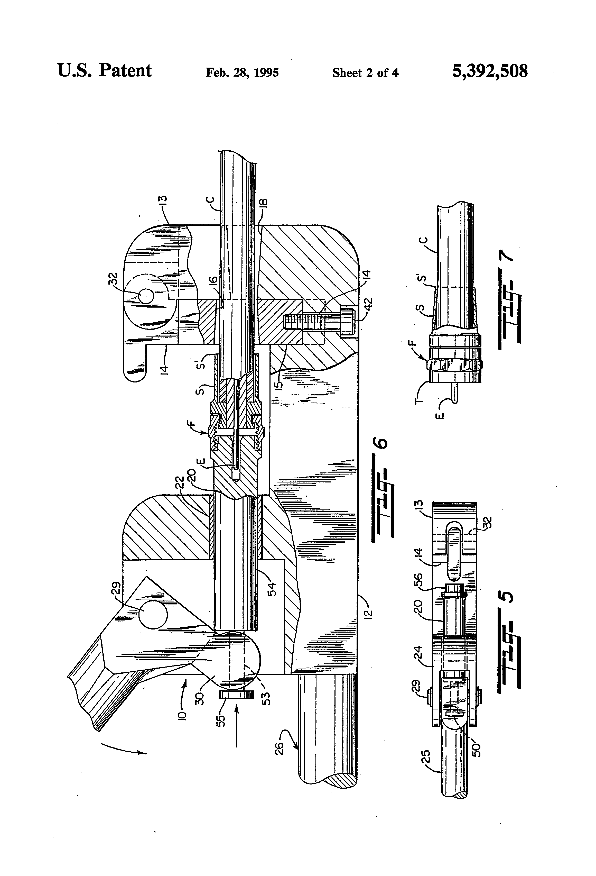 patent us5392508 - axial deformation crimping tool