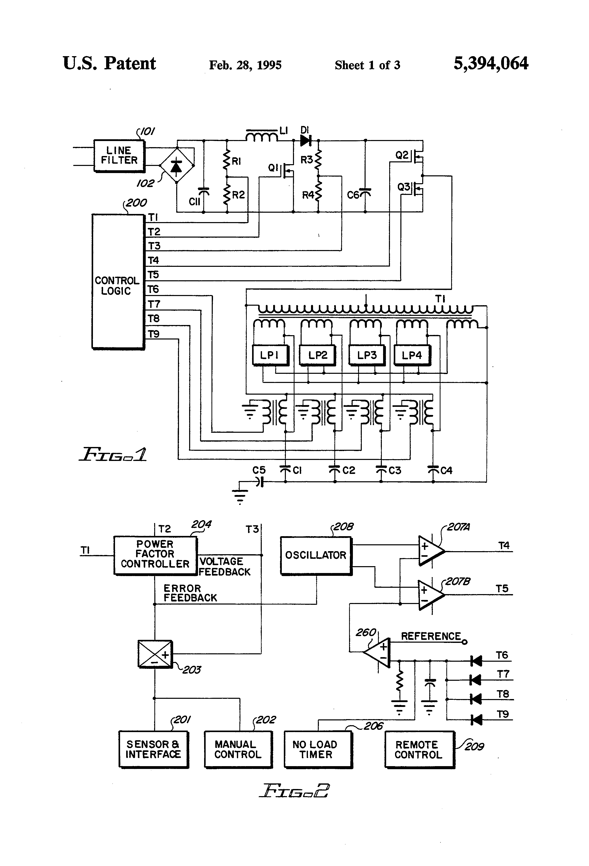 US5394064 1 patent us5394064 electronic ballast circuit for fluorescent electronic ballast circuit diagram at gsmportal.co