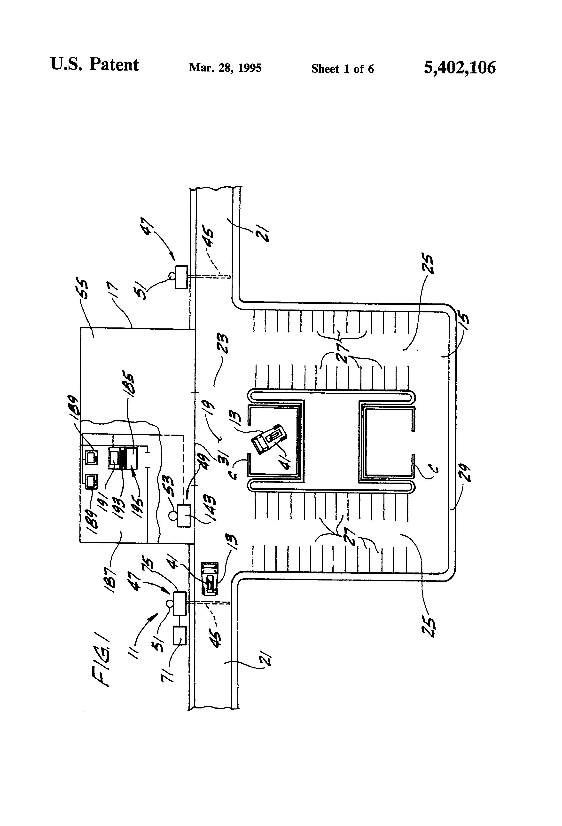 Patent Us5402106 Shopping Cart Theft Prevention System Google Reed Switch Wiring With Relays Moreover Latching Relay Circuit Diagram Drawing