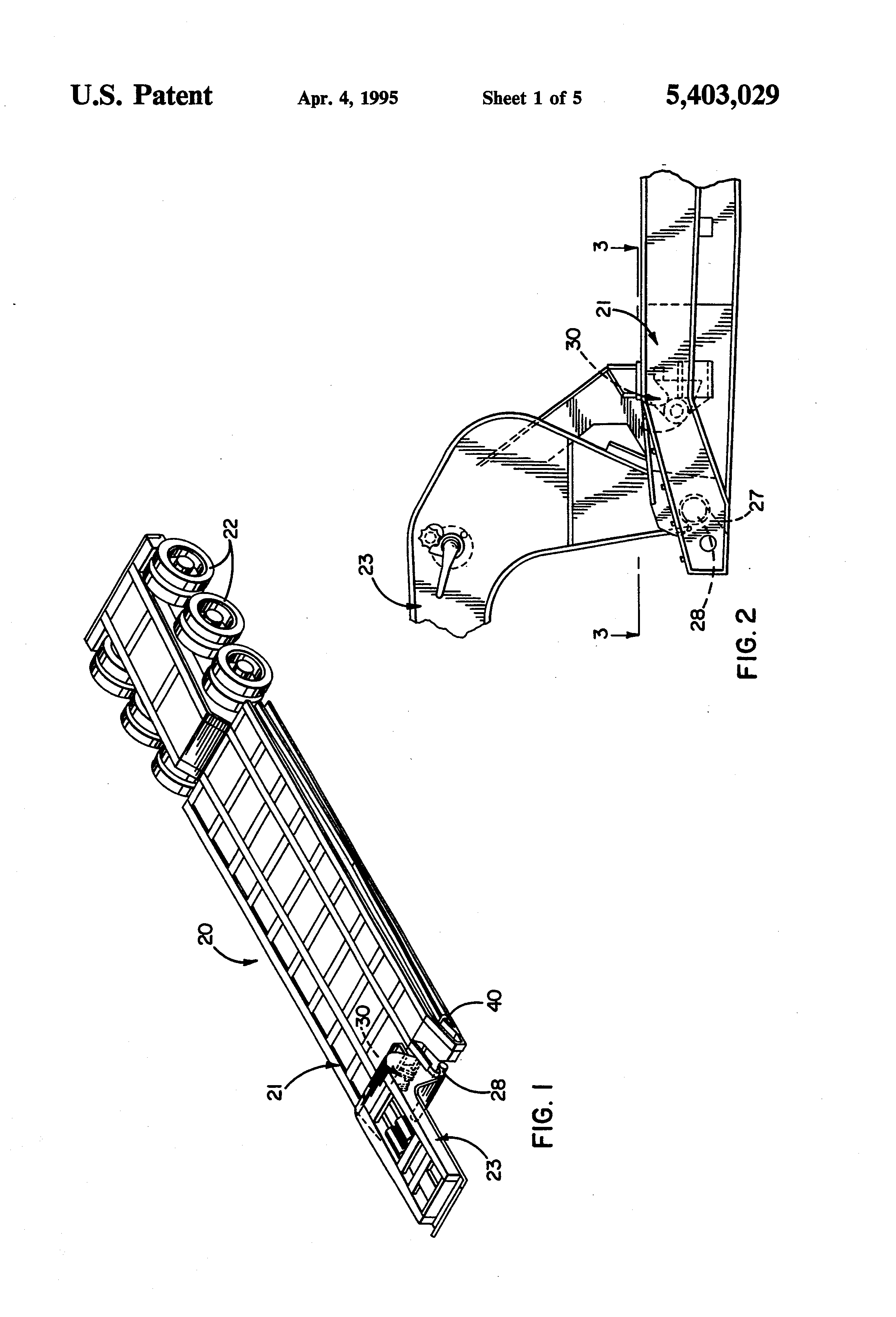 patent us5403029 - mechanism for latching a gooseneck hitch to a trailer platform