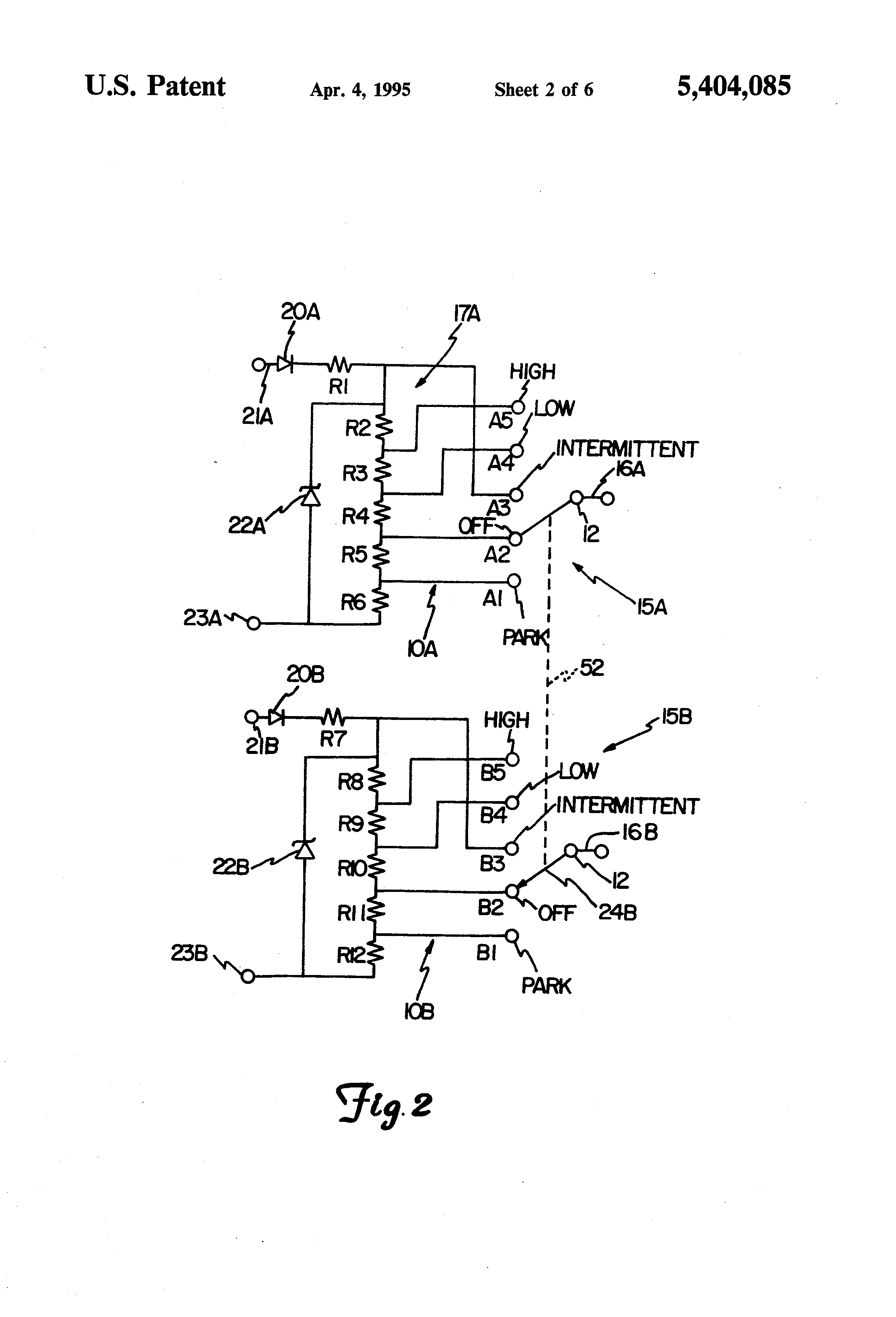 US5404085 2 patent us5404085 multifunction aircraft windscreen wiper control Wiring Harness Diagram at crackthecode.co