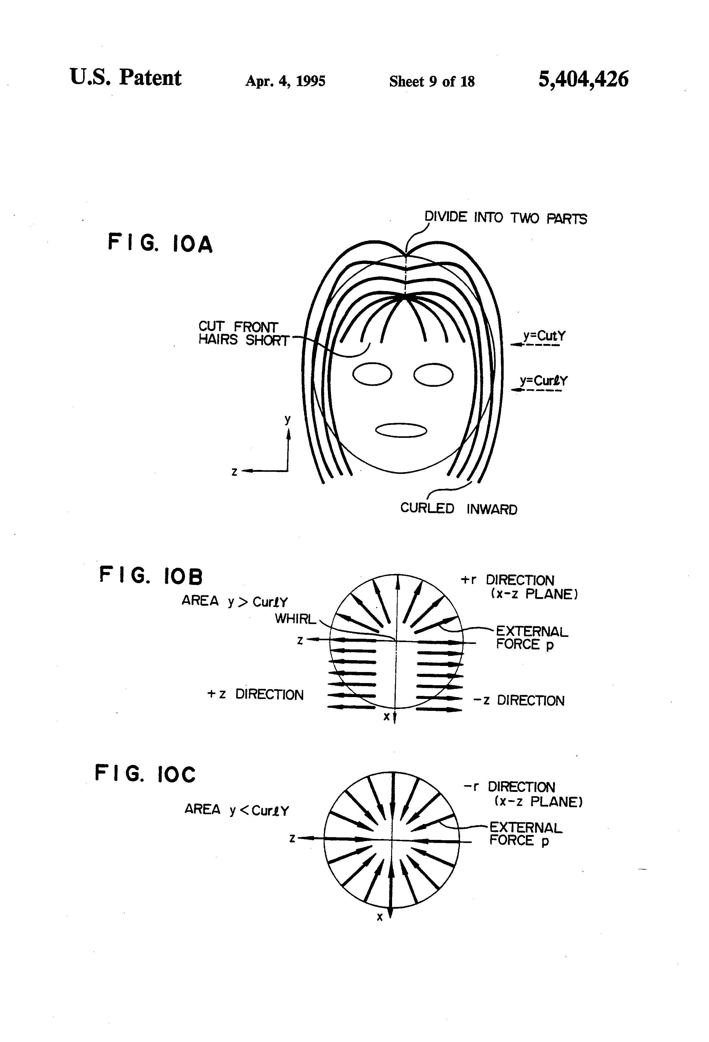 90 degree haircut state board diagram