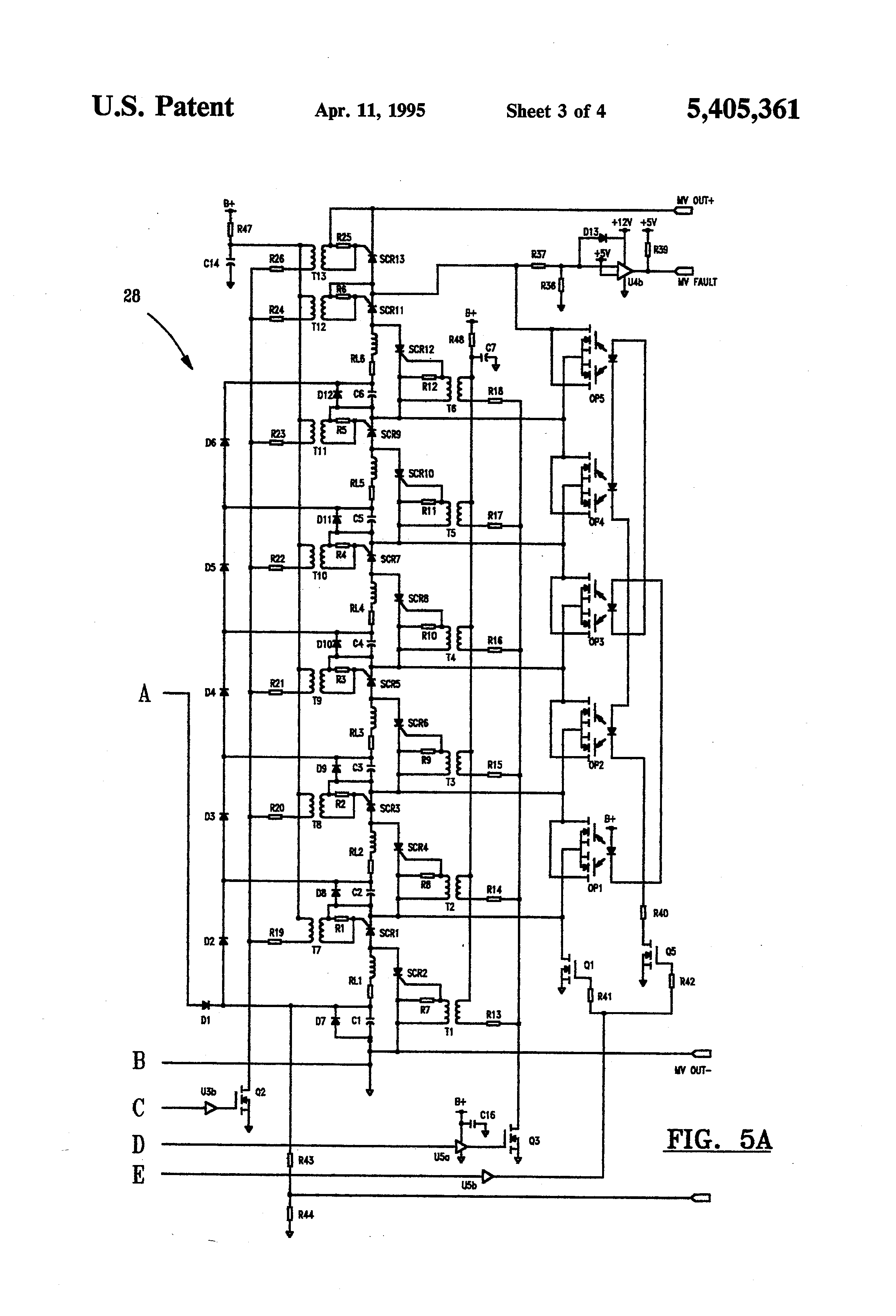 patent us5405361 - external defibrillator circuit