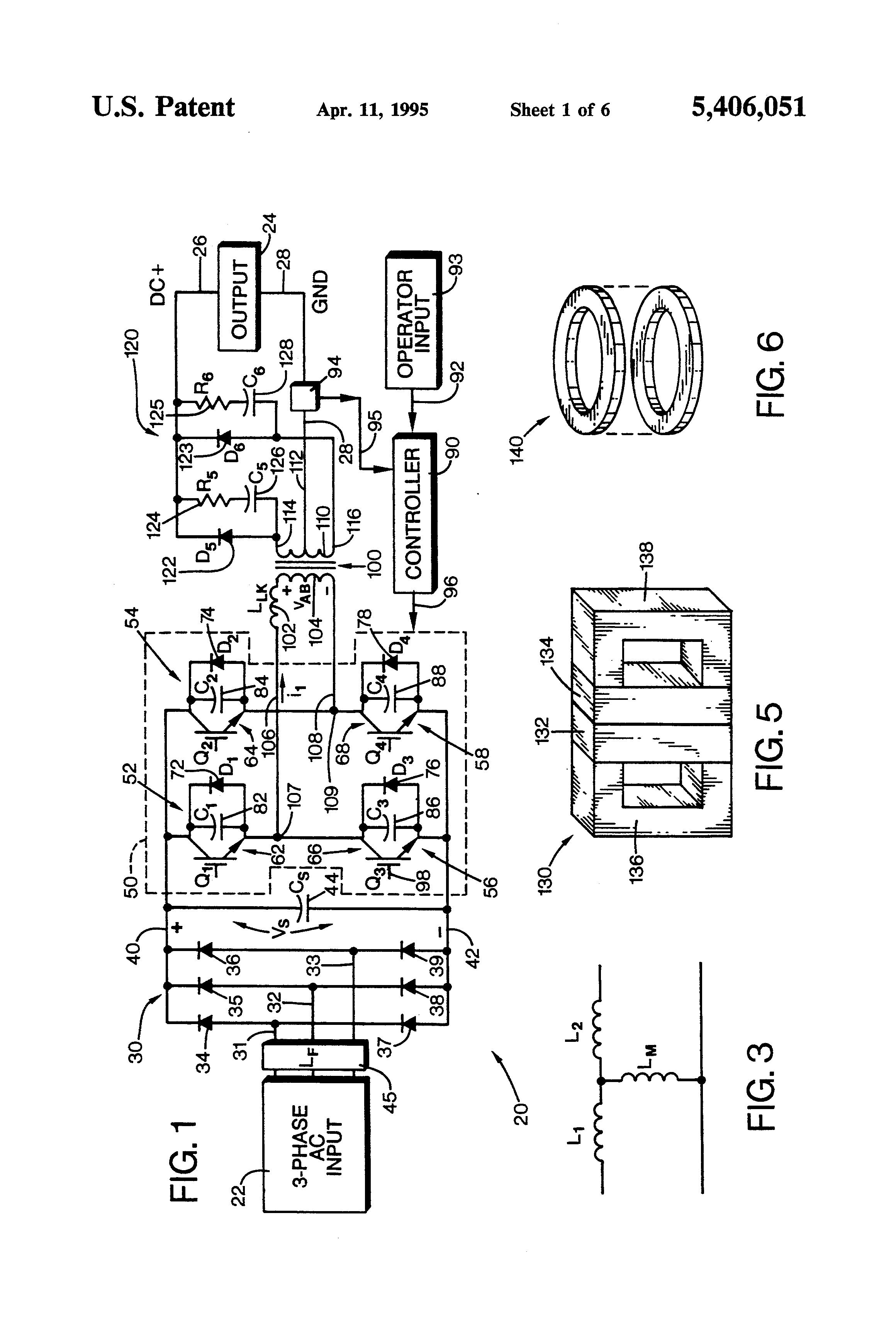 patent us5406051 - welding machine with a high frequency converter