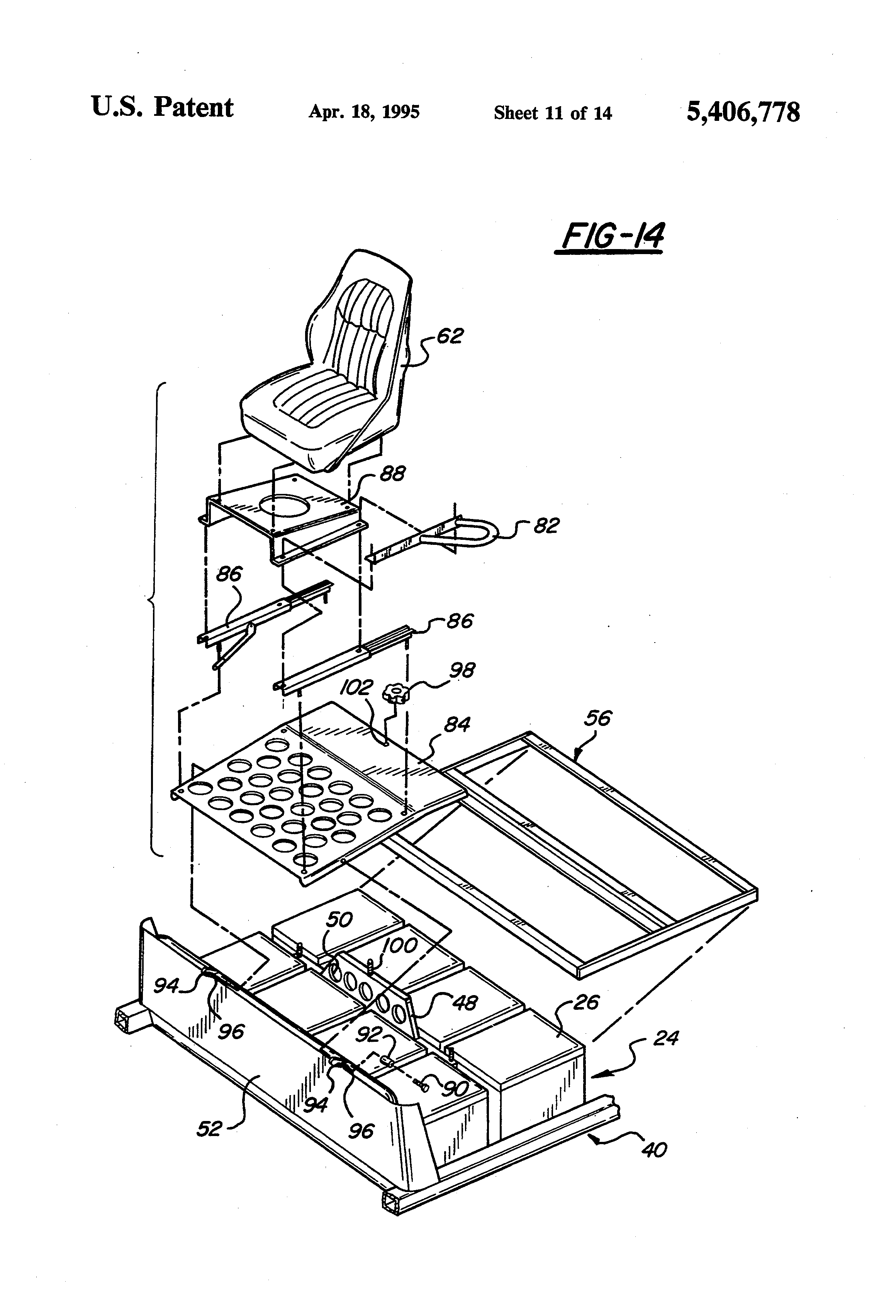 patent us5406778 electric drive riding greens mower google patents patent drawing