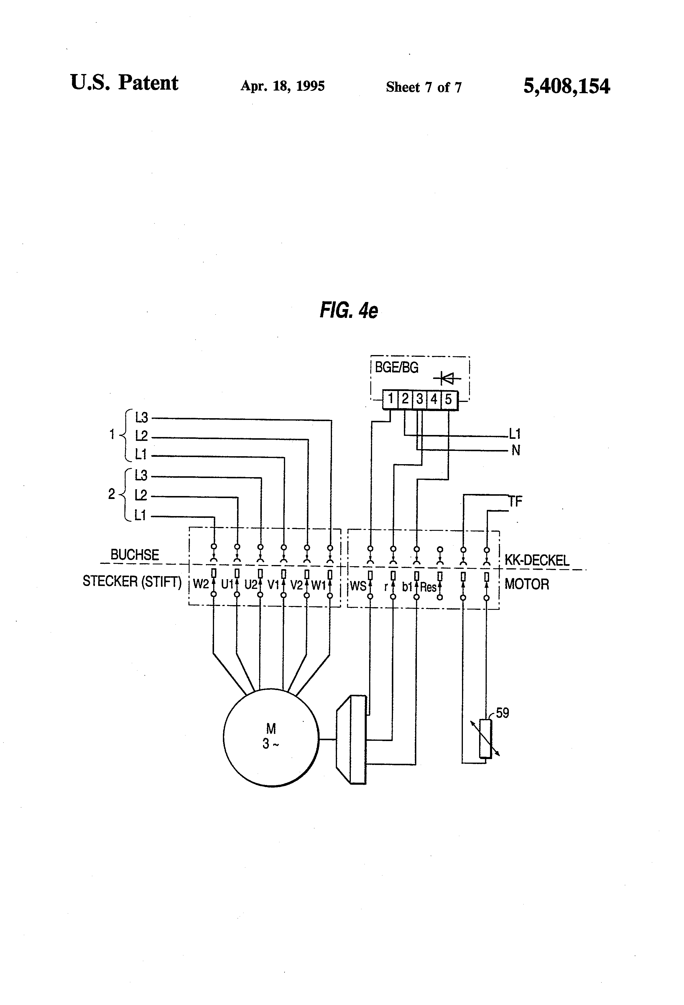 US5408154 7 patent us5408154 motor connection block, particularly for sew eurodrive wiring diagram at eliteediting.co