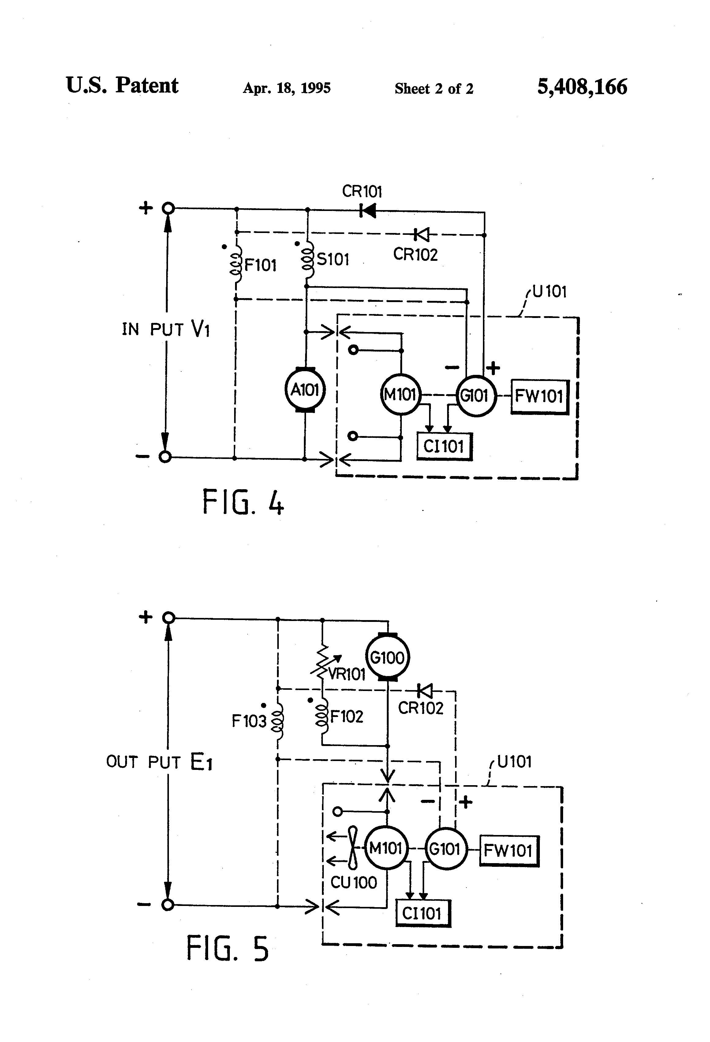 Patent Us5408166 Dynamic Current Feedback Magnetizing Type Series Compound Generator Circuit Diagram Characteristics Drawing