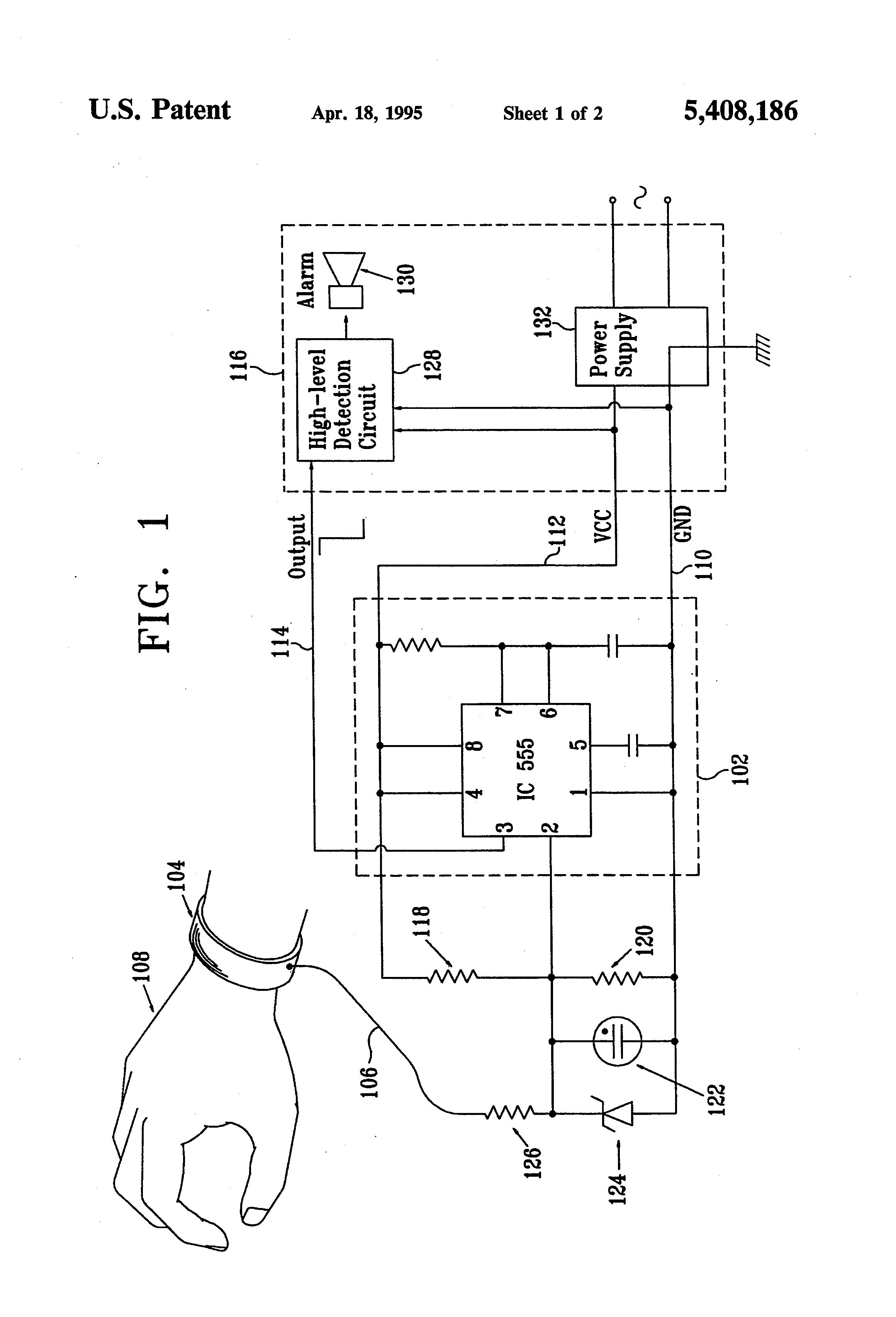 patent us5408186 - single-conductor wrist strap monitoring
