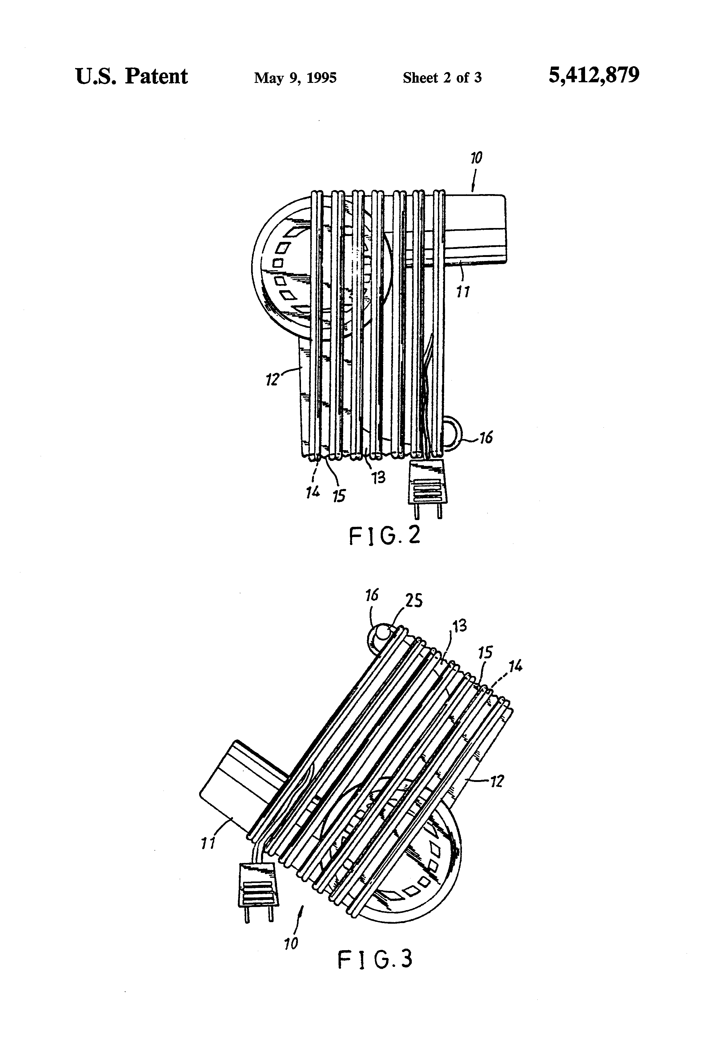 patent us5412879 - hair dryer handle structure