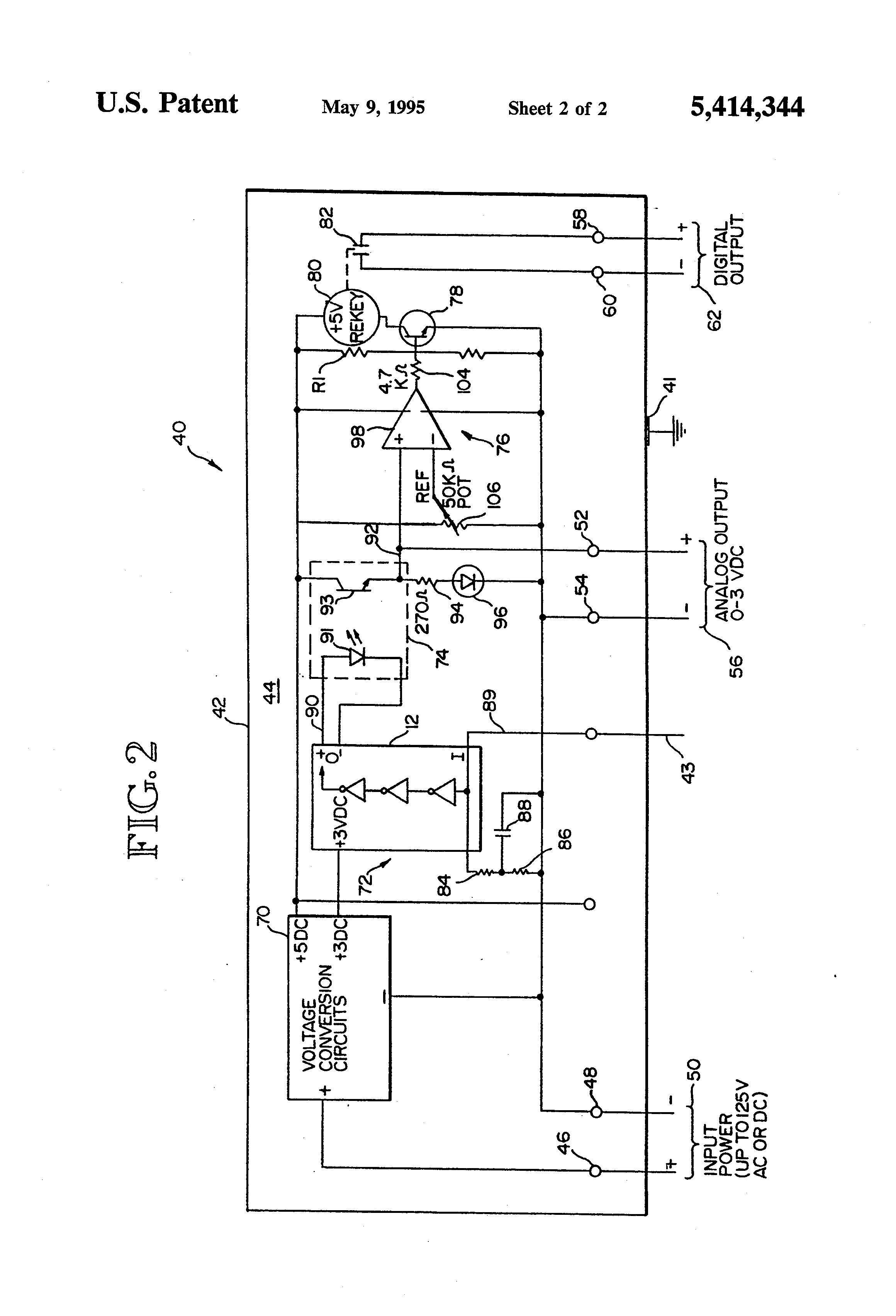 Patent Us5414344 Non Contact Apparatus For Sensing Energization Of Santronics Ac Dc Voltage Detectors Quickly Test Energized Circuits Drawing