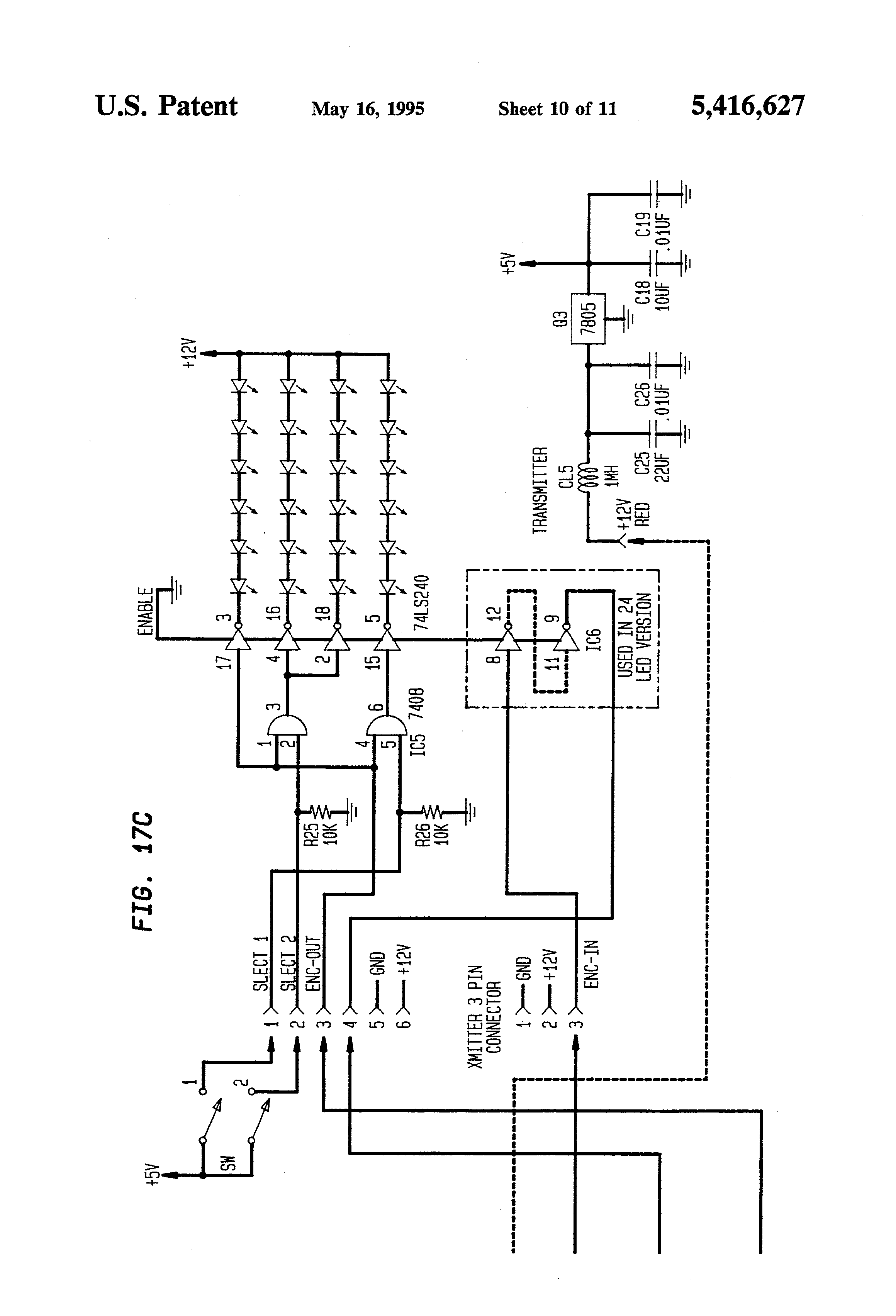Patent Us5416627 Method And Apparatus For Two Way Infrared Infraredled Based Wireless Data Voice Communication With Circuit Drawing