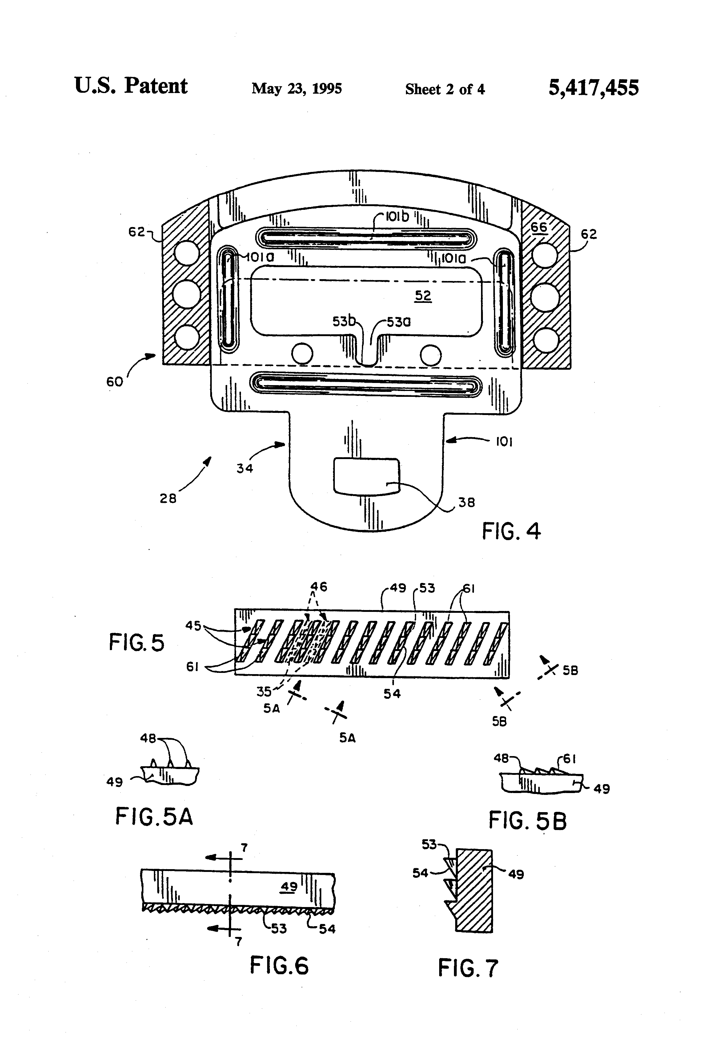 Patent Us5417455 Free Falling Tip With Full Locking Google Patenten Nippon Central Wiring Diagram Drawing