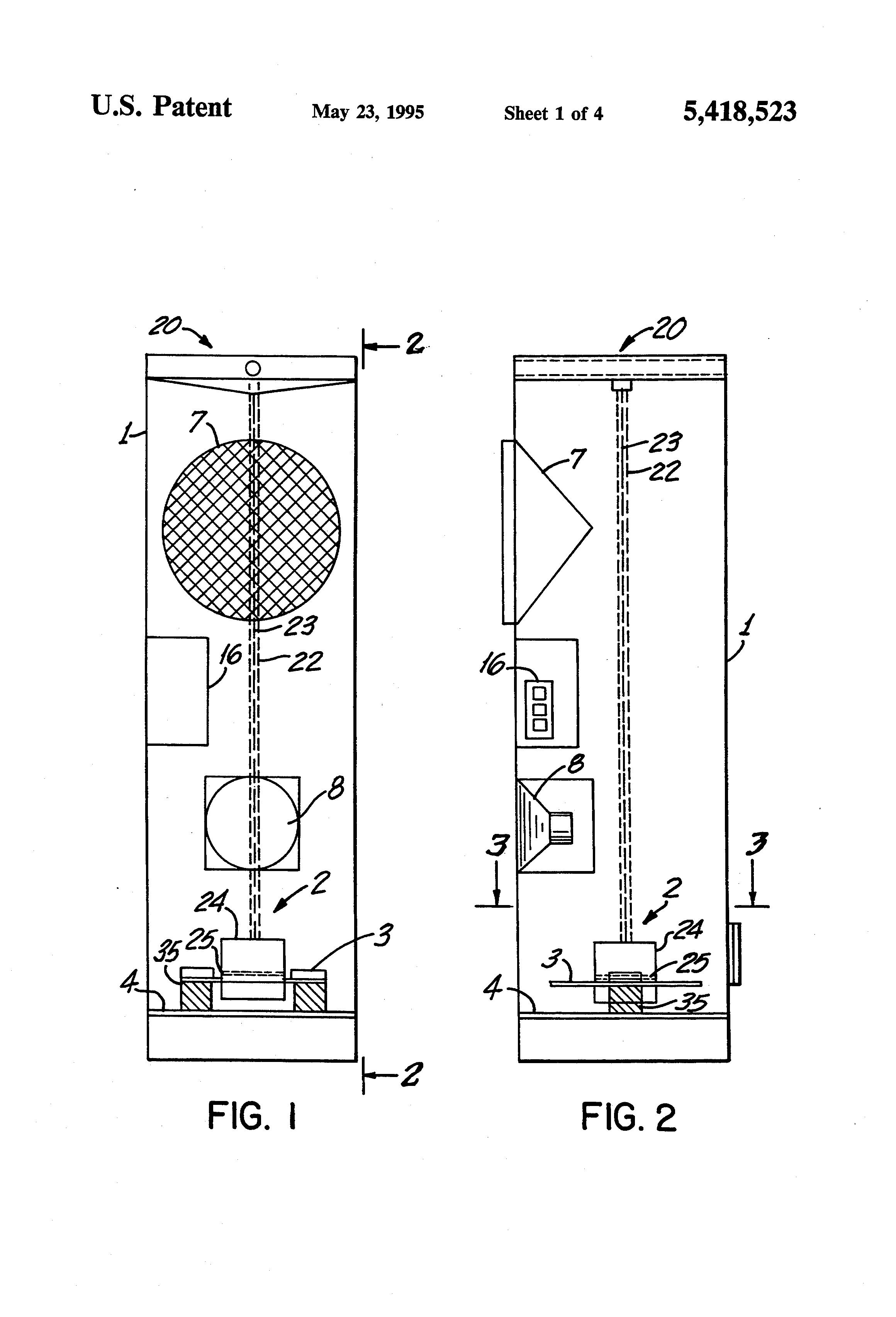 patent us5418523