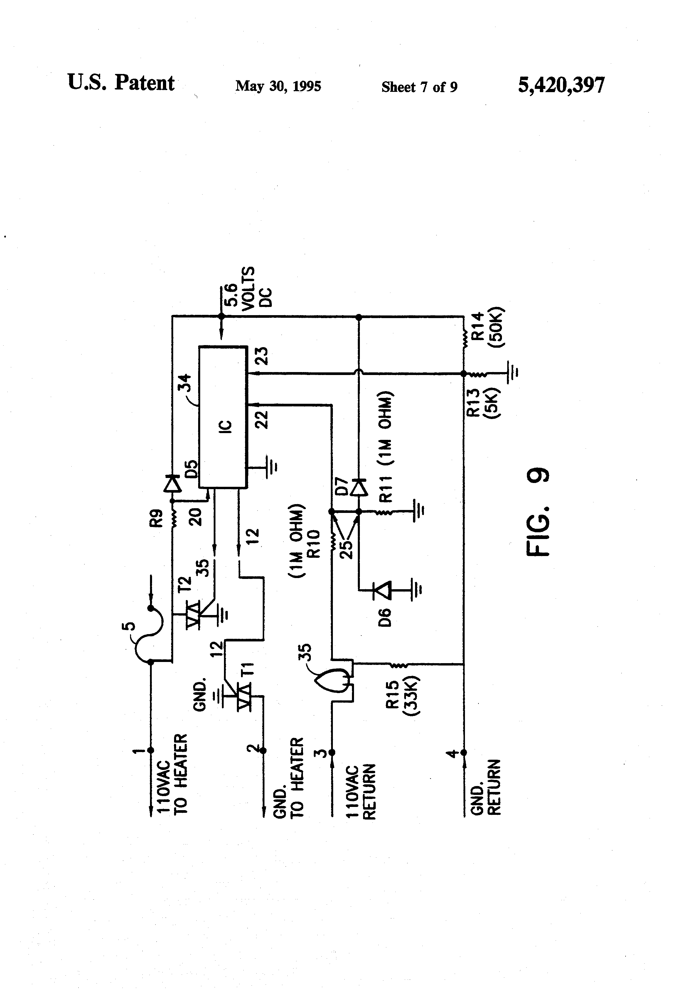 Patent Us5420397 - Control Device And Safety Circuit For Heating Pads With Ptc Heater