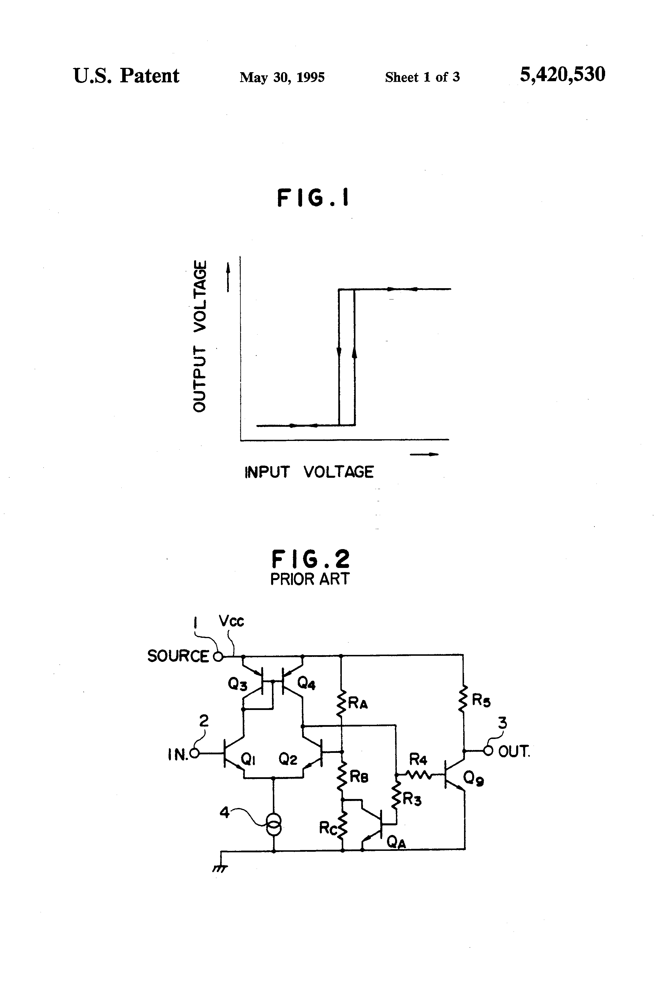 Patent Us5420530 Voltage Comparator With Hysteresis Google Patents Circuits Design Tool Drawing